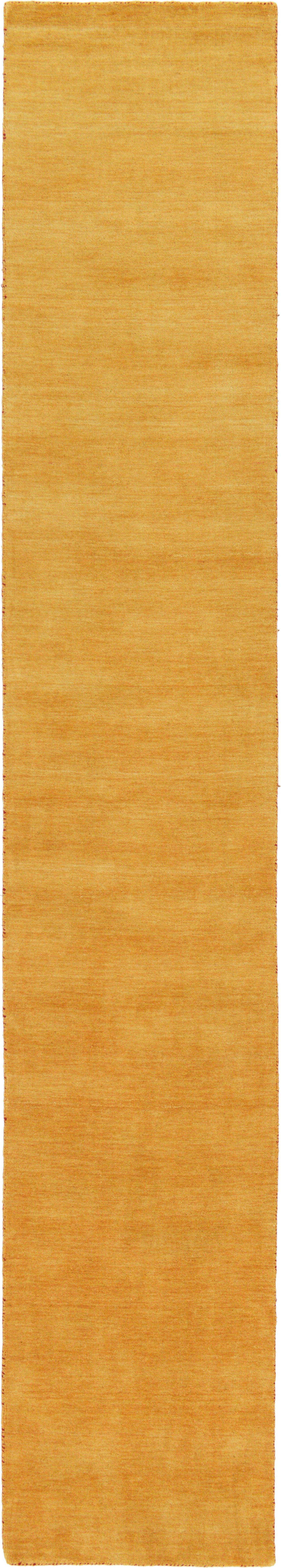Taul Hand-Knotted Wool Gold Area Rug Rug Size: 2' 7 x 16' 5
