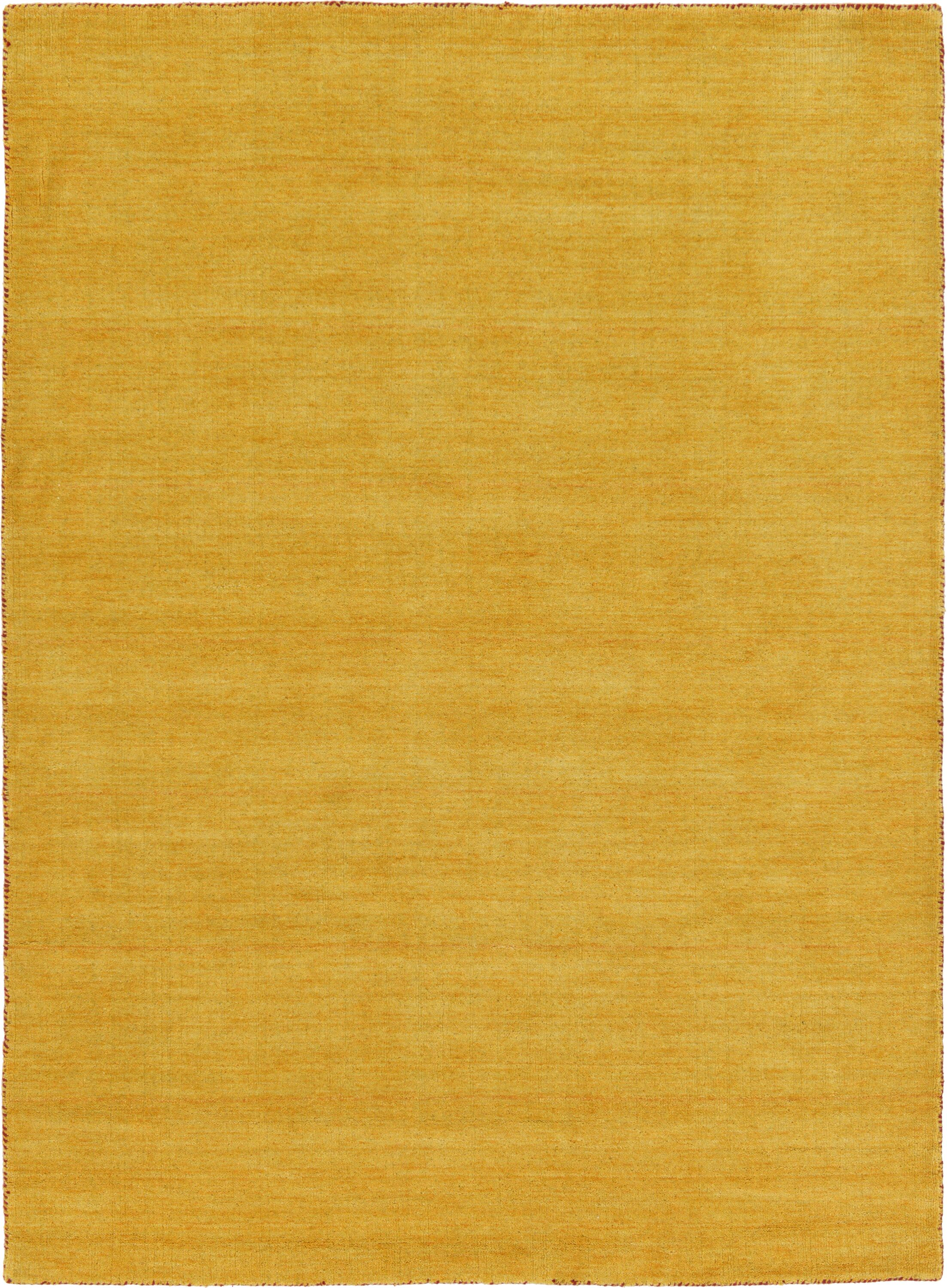Taul Hand-Knotted Wool Gold Area Rug Rug Size: 5' 3 x 7' 7
