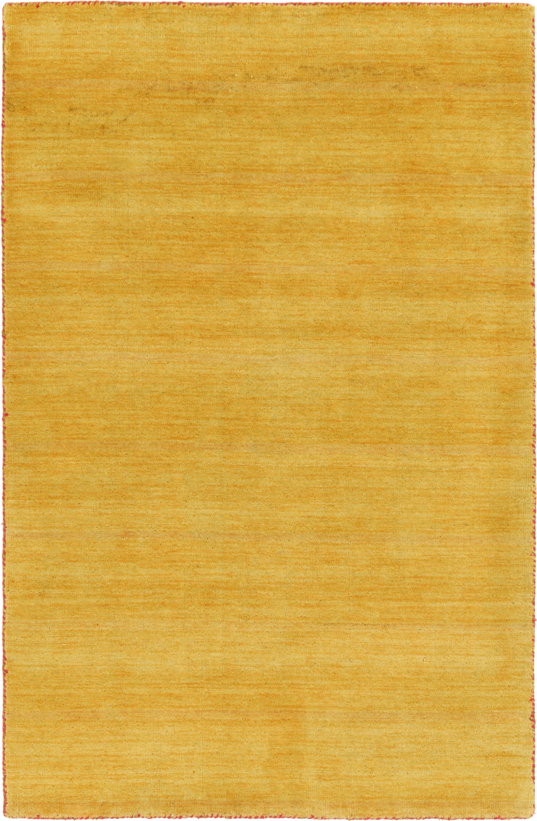 Taul Hand-Knotted Wool Gold Area Rug Rug Size: 4' 0 x 5' 7
