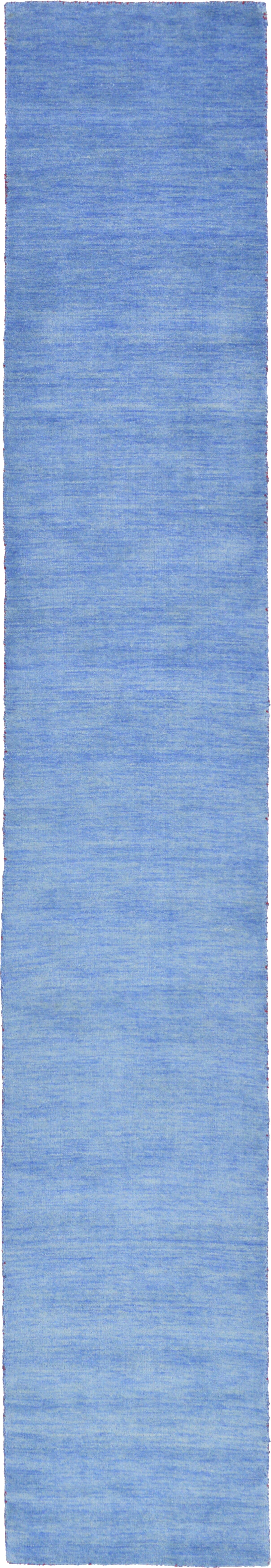 Taul Hand-Knotted Wool Light Blue Area Rug Rug Size: 2' 7 x 16' 5
