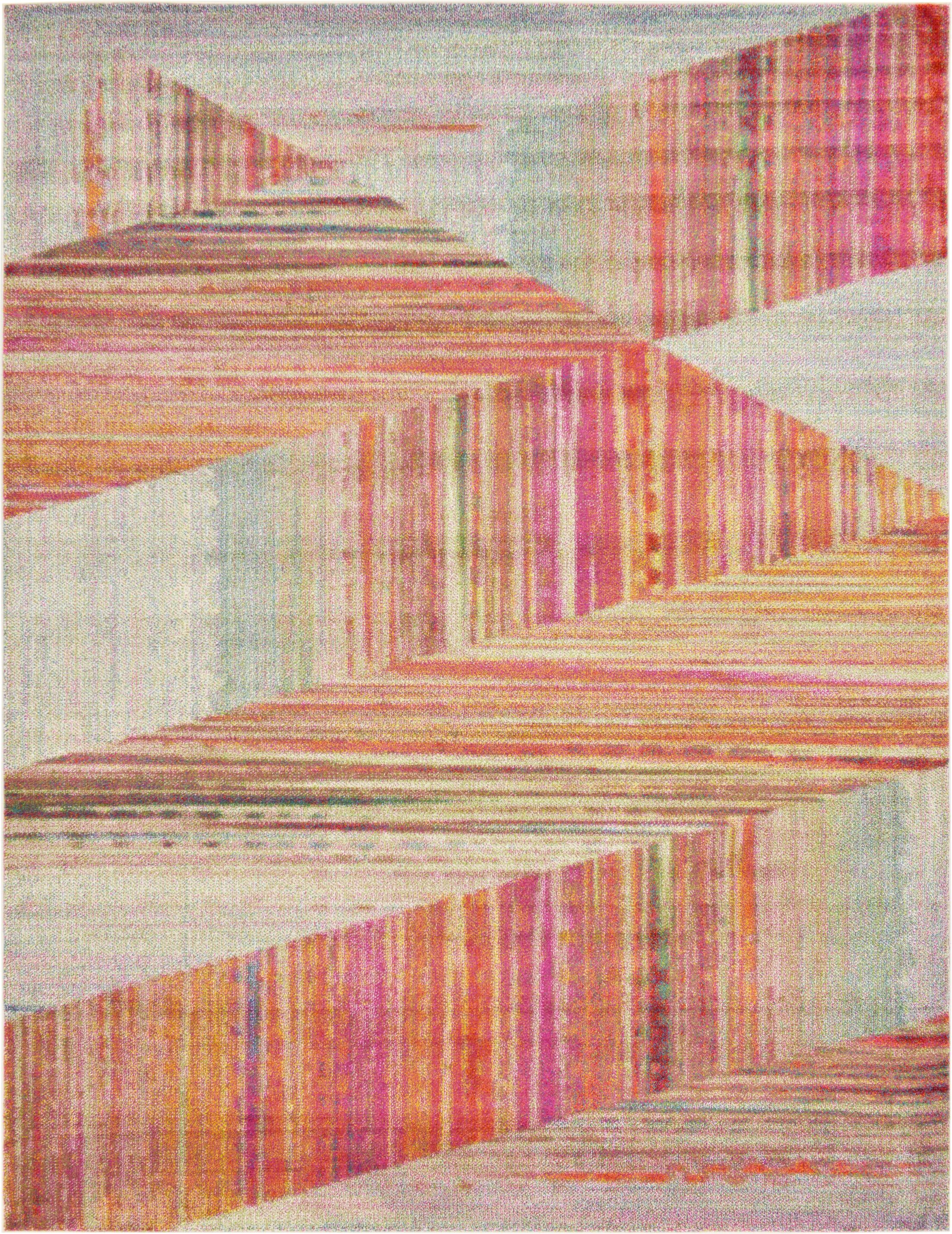 Aristomache Pink Area Rug Rug Size: Rectangle 9' x 12'