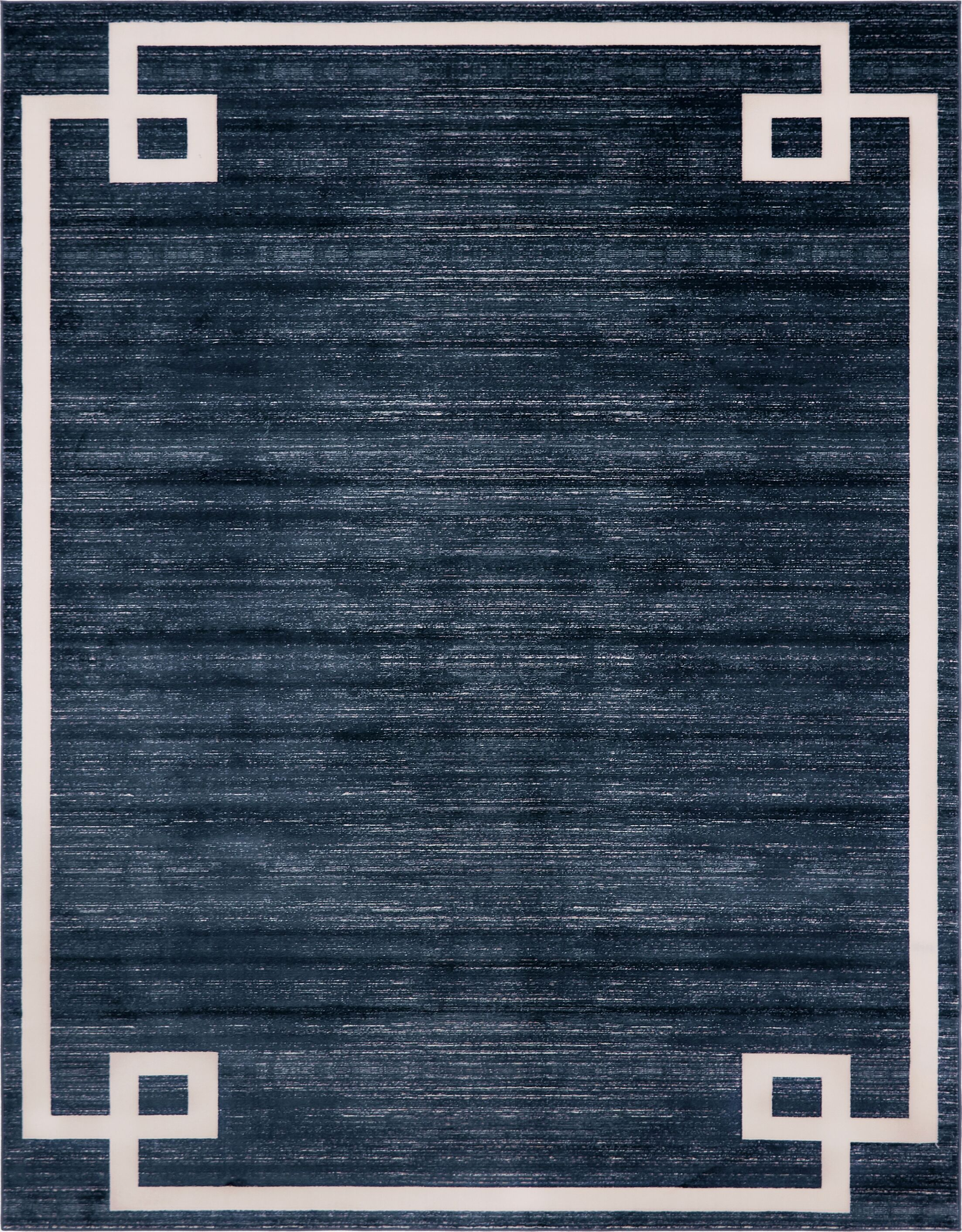 Uptown Hill Navy Blue Area Rug Rug Size: Rectangle 8' x 10'