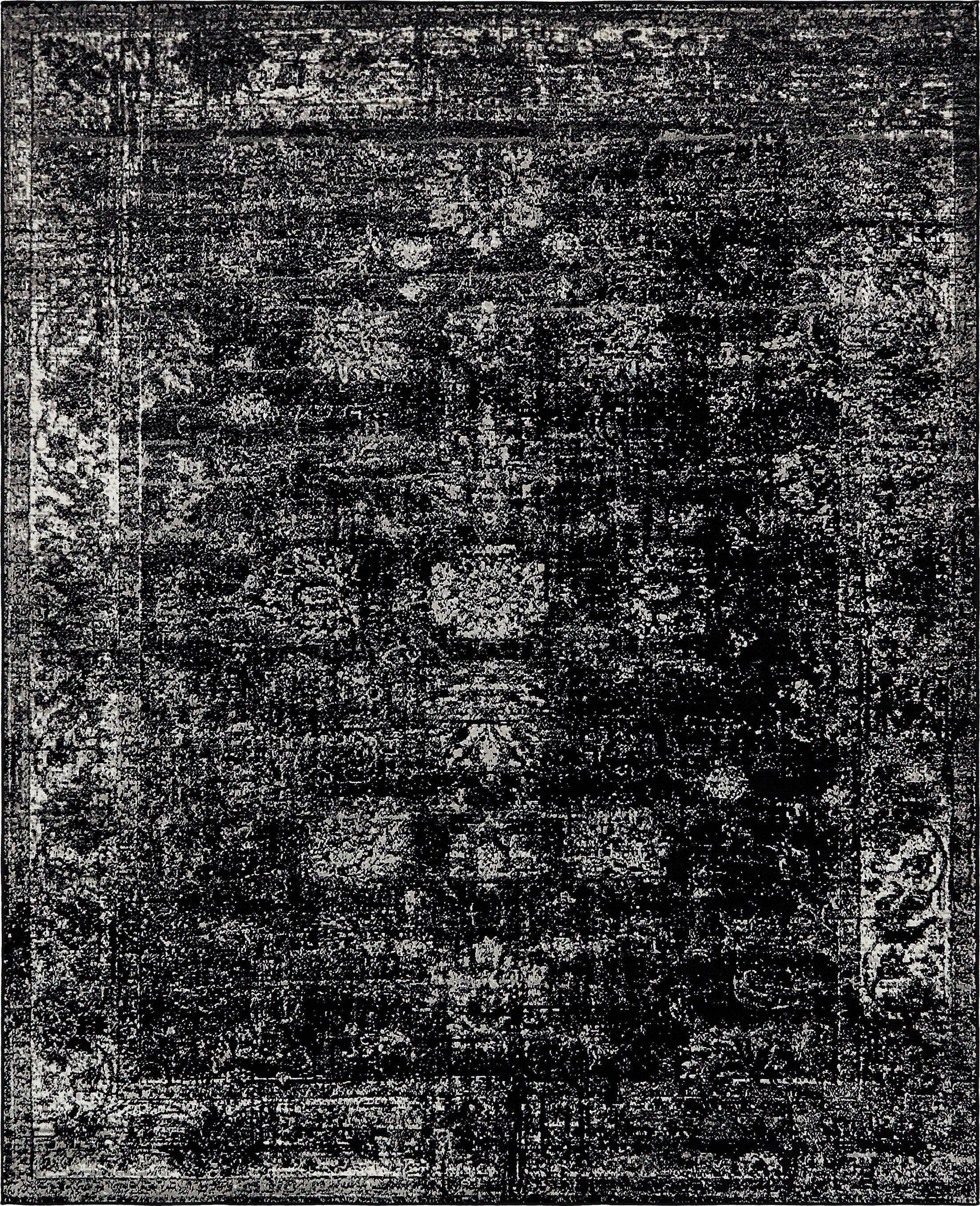Brandt Black Area Rug Rug Size: Rectangle 8' x 10'