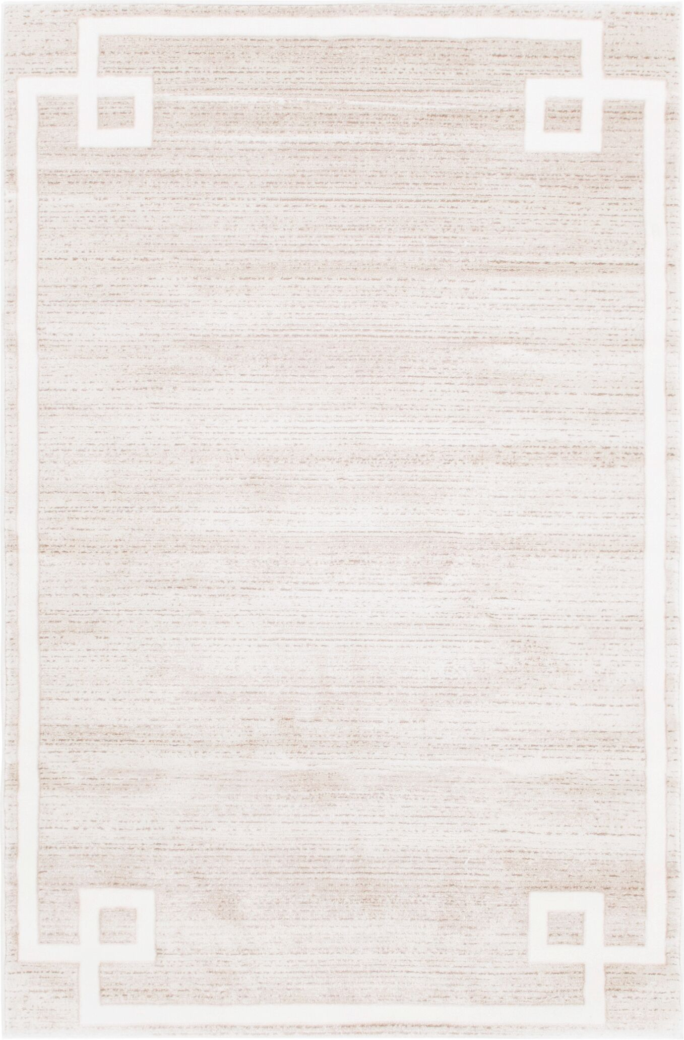 Uptown Hill Beige Area Rug Rug Size: Rectangle 4' x 6'