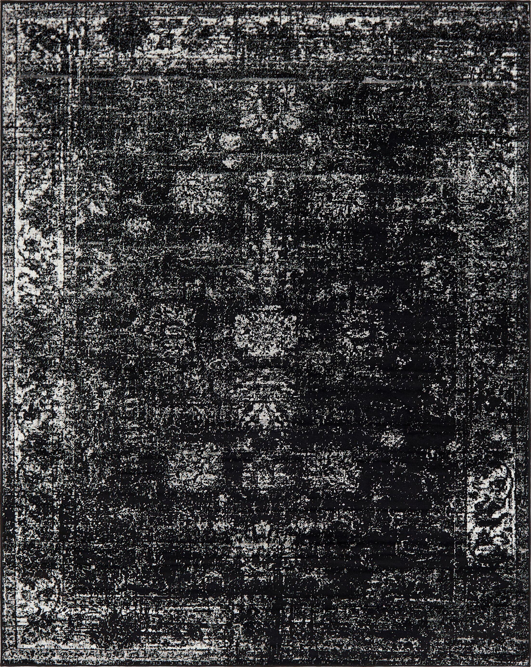 Brandt Black Area Rug Rug Size: Rectangle 8' x 11'