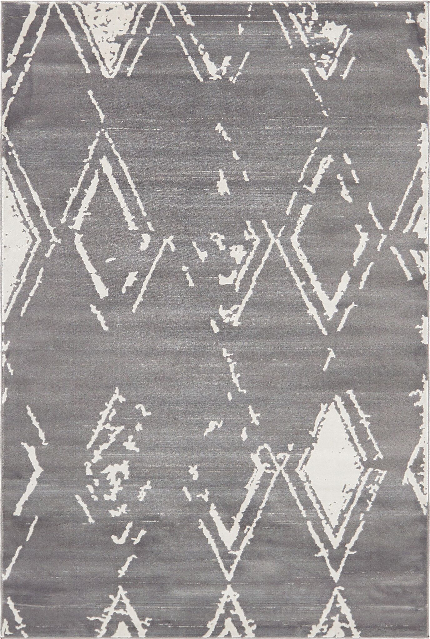 Uptown Carnegie Hill Gray Area Rug Rug Size: Rectangle 4' x 6'