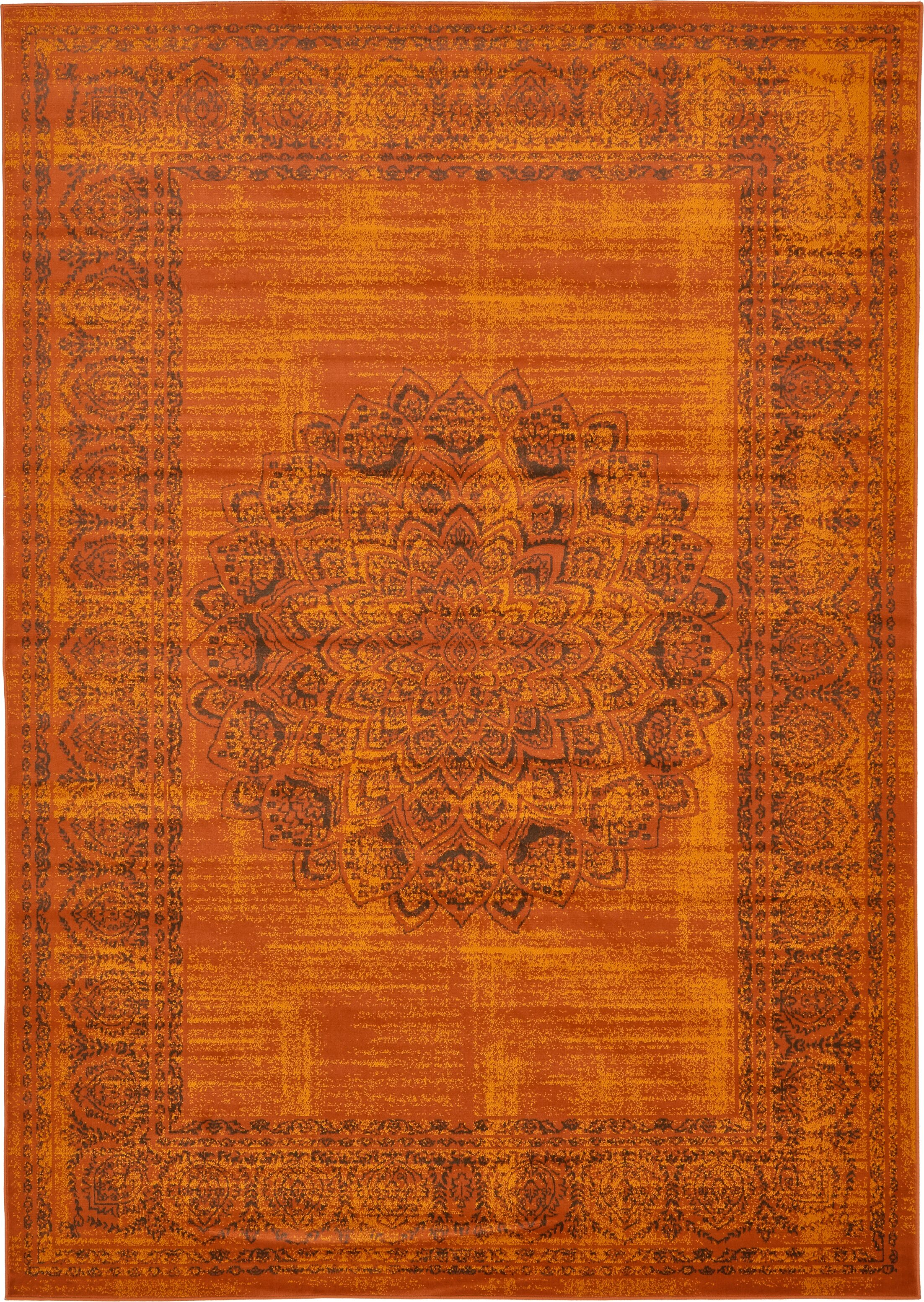 Neuilly Terracotta/Brown Area Rug Rug Size: Rectangle 7' x 10'