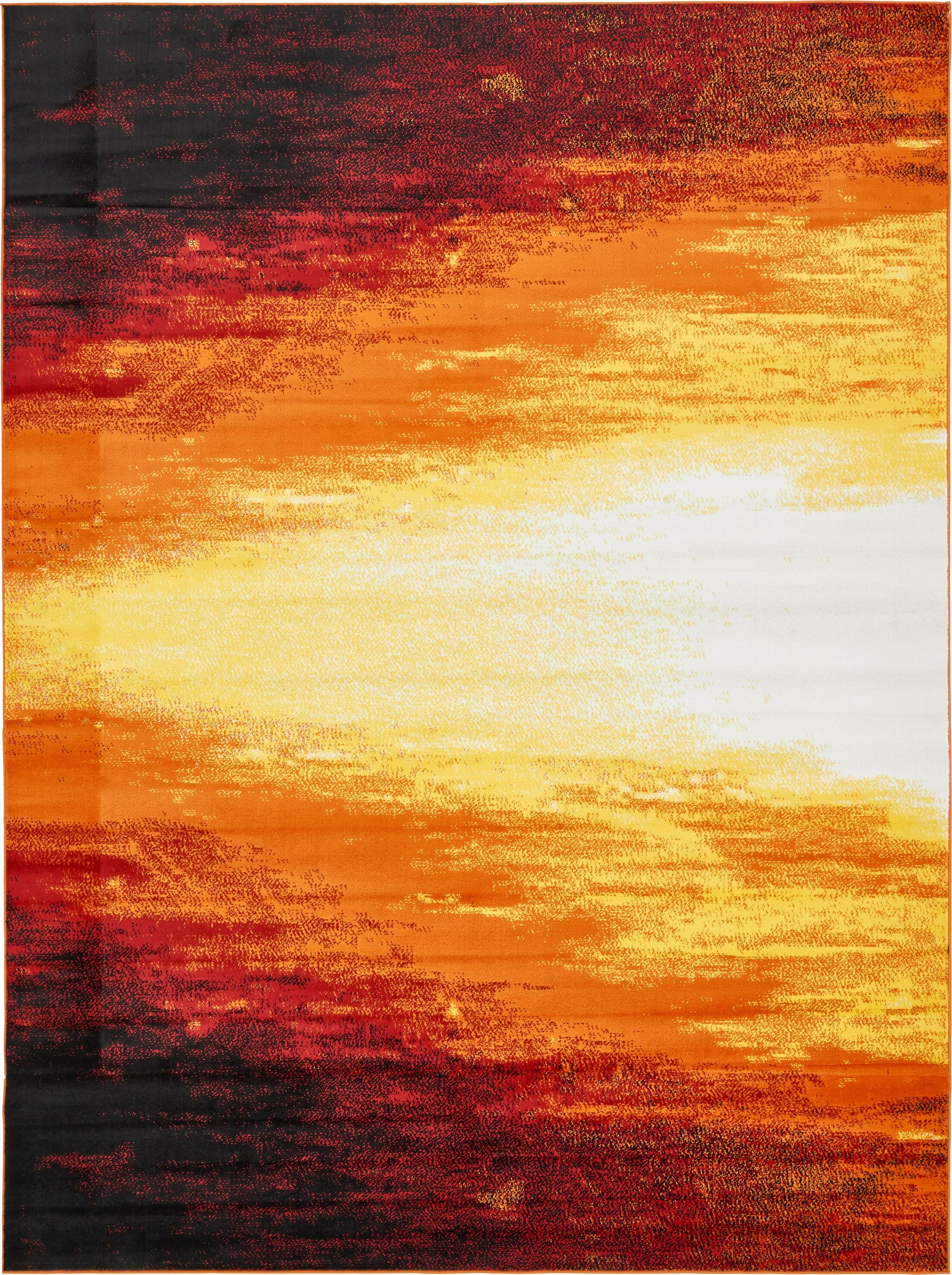 Sidney Orange Area Rug Rug Size: Rectangle 9' x 12'