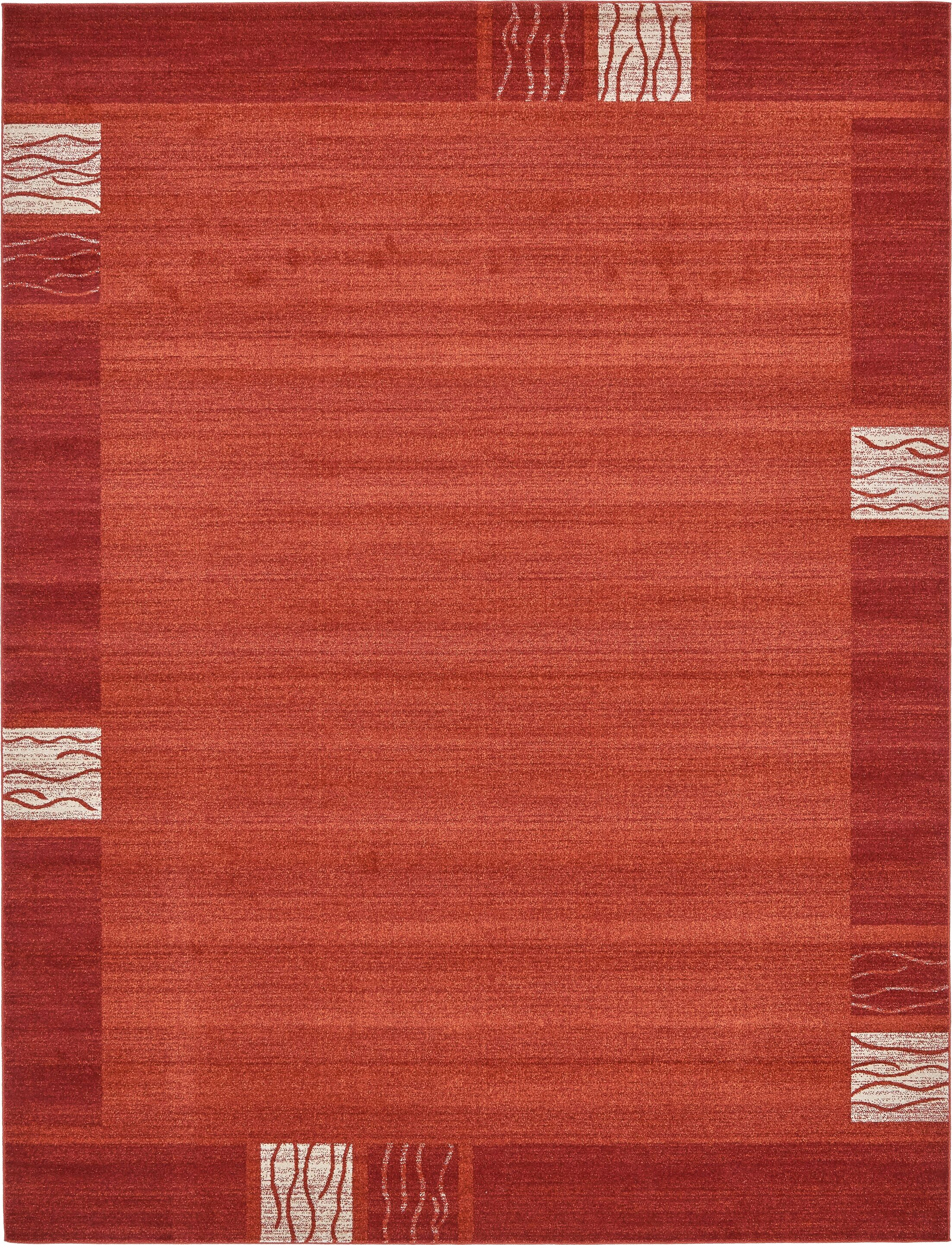 Christi Red Area Rug Rug Size: Rectangle 10' x 13'