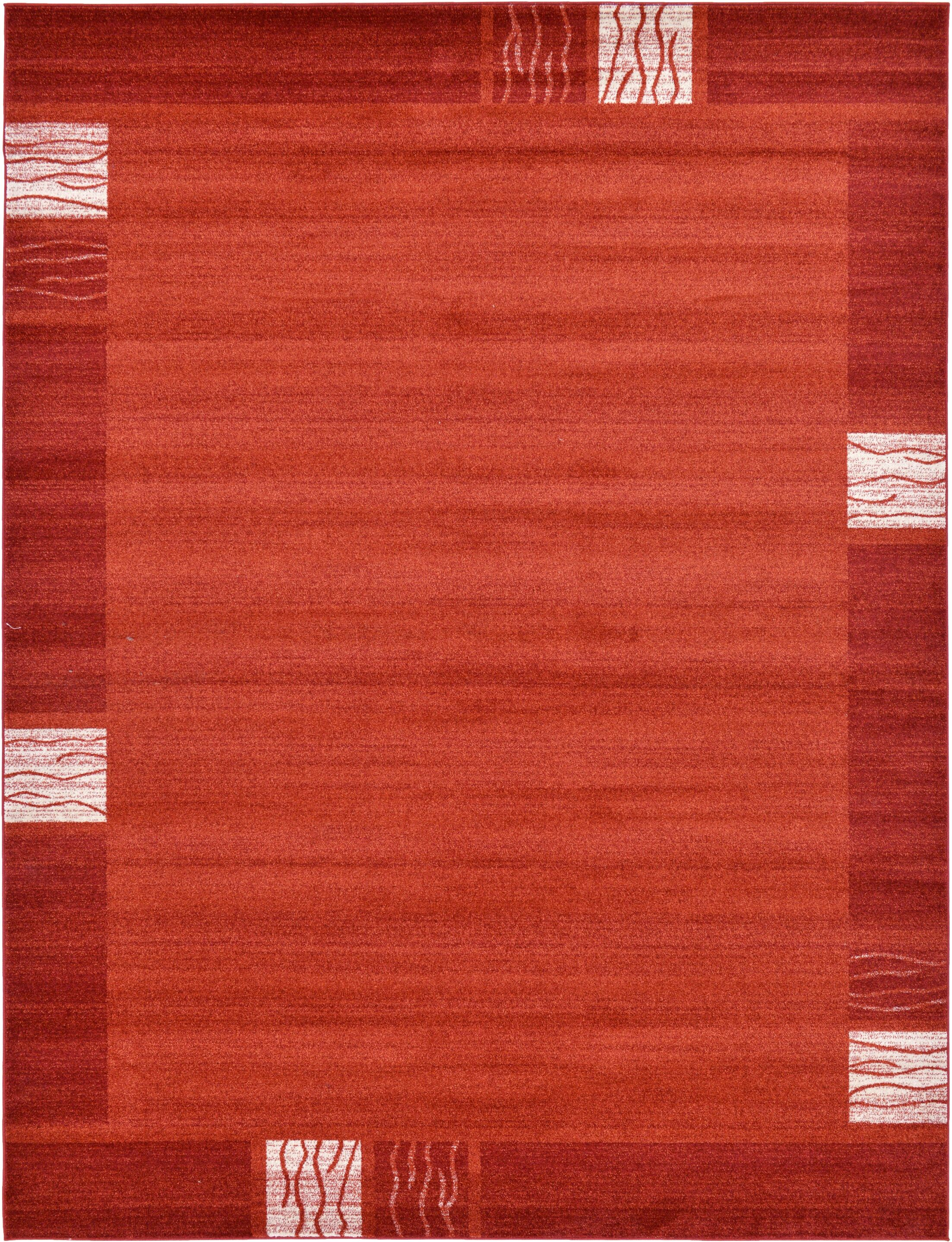 Christi Red Area Rug Rug Size: Rectangle 9' x 12'