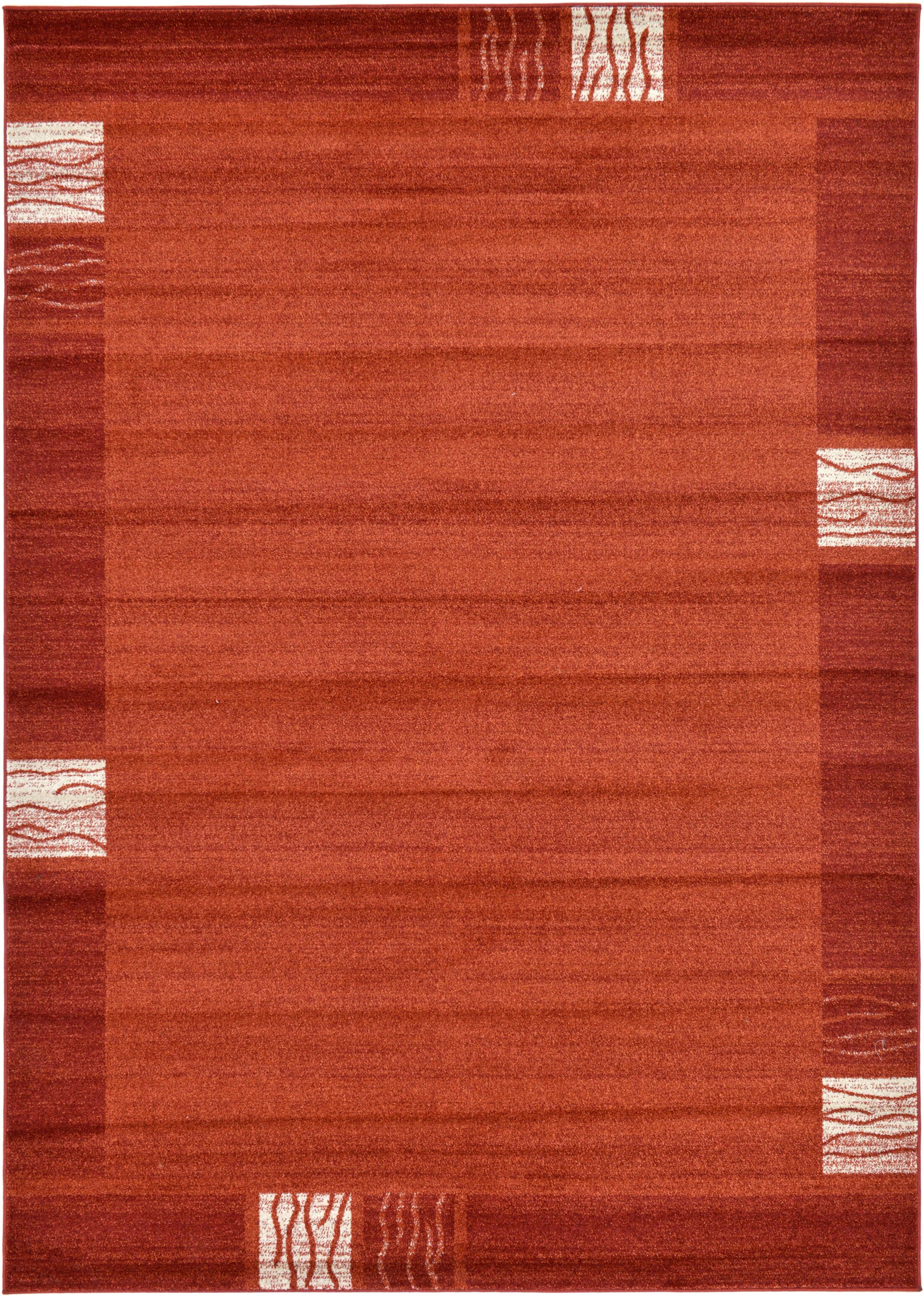 Christi Red Area Rug Rug Size: Rectangle 7' x 10'