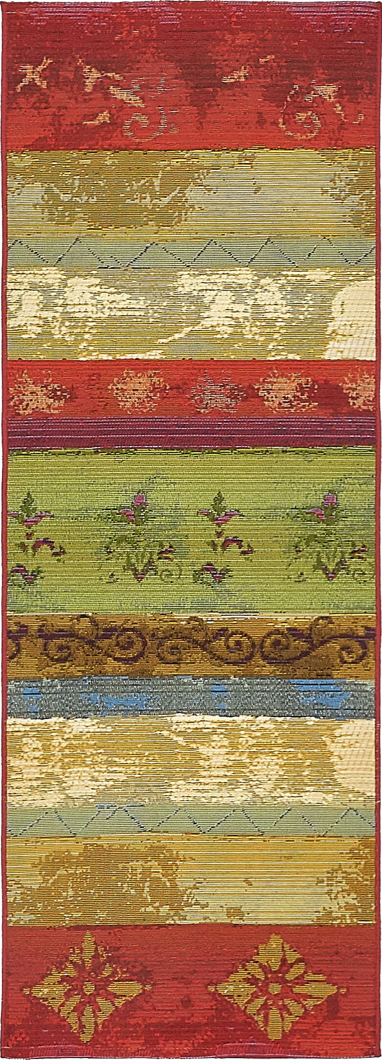 Aroma Red/Green Indoor/Outdoor Area Rug Rug Size: Runner 2' x 6'