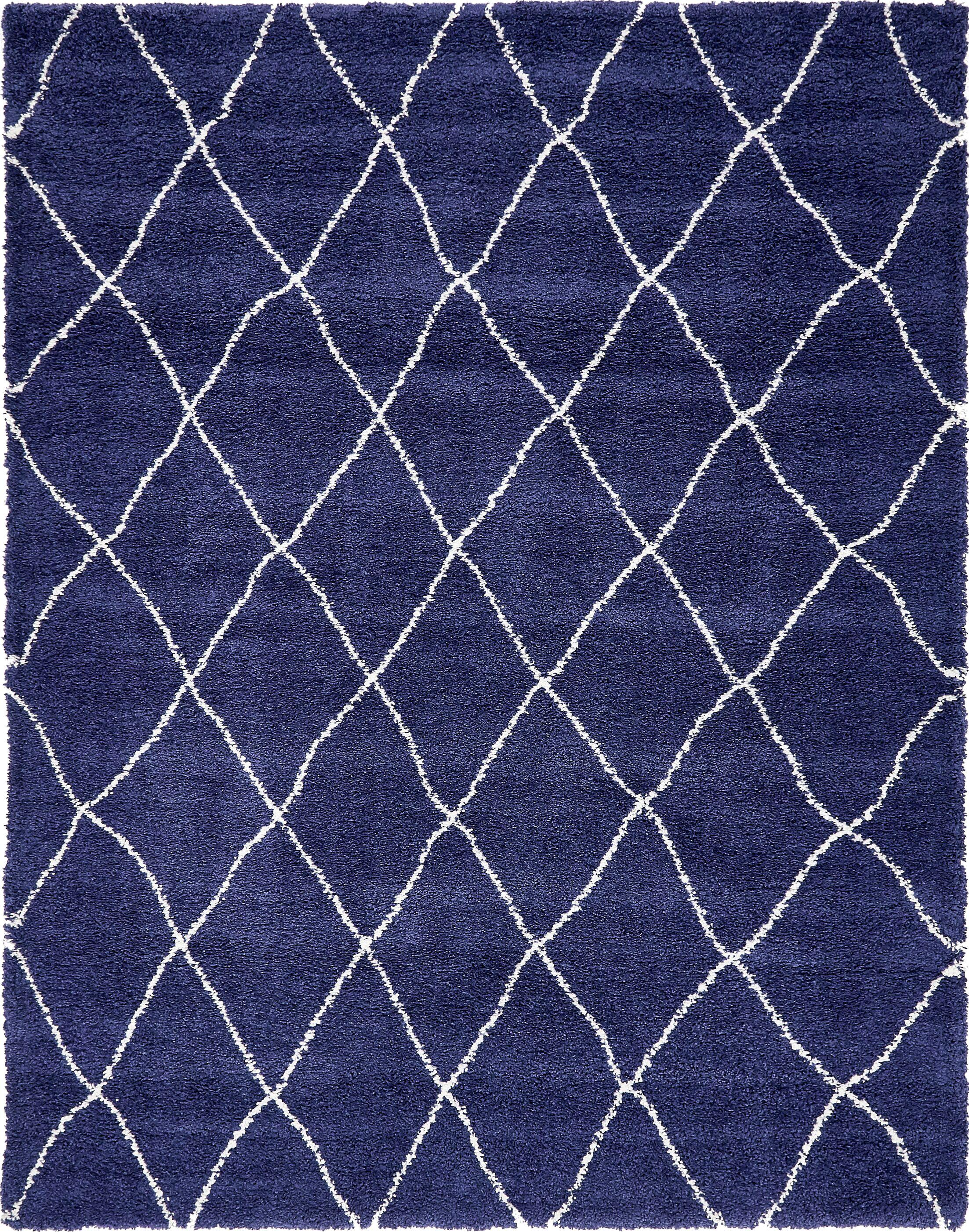 Cynthiana  Navy Blue Area Rug Rug Size: Rectangle 8'  x 10'