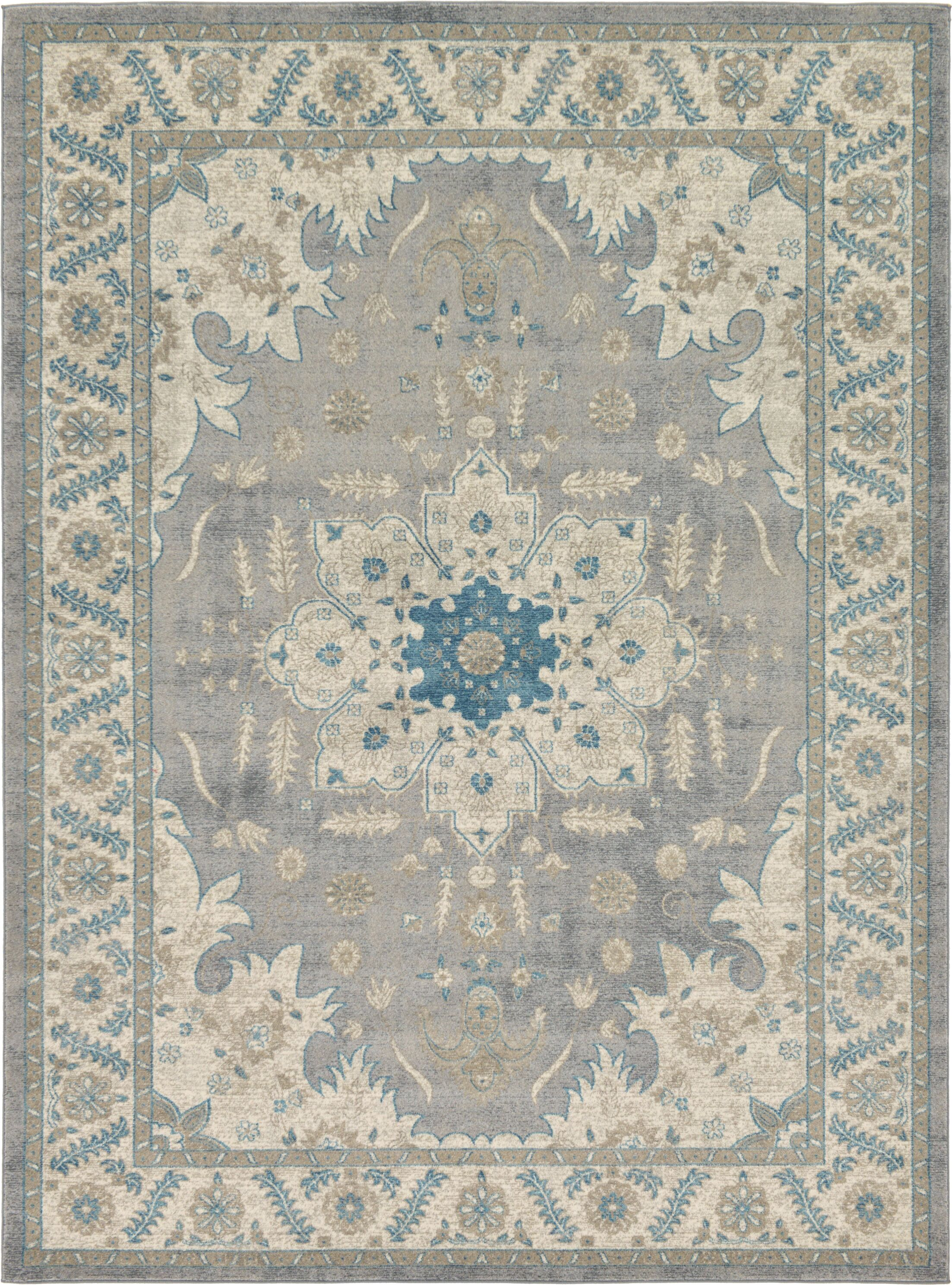 Kerensa Gray Area Rug Rug Size: Rectangle 8' x 11'