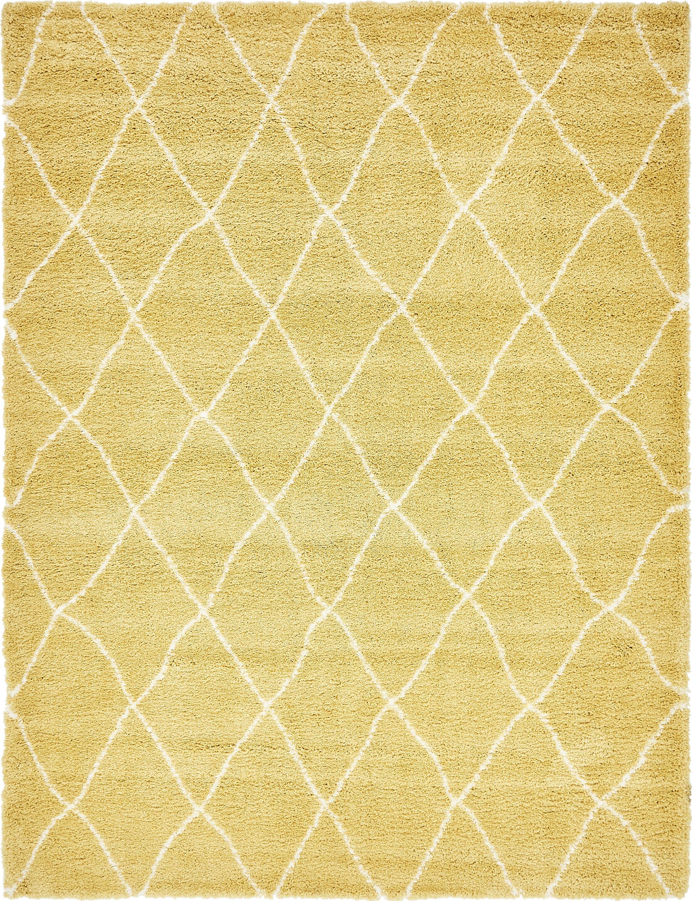Cynthiana Yellow Area Rug Rug Size: Rectangle 9' x 12'