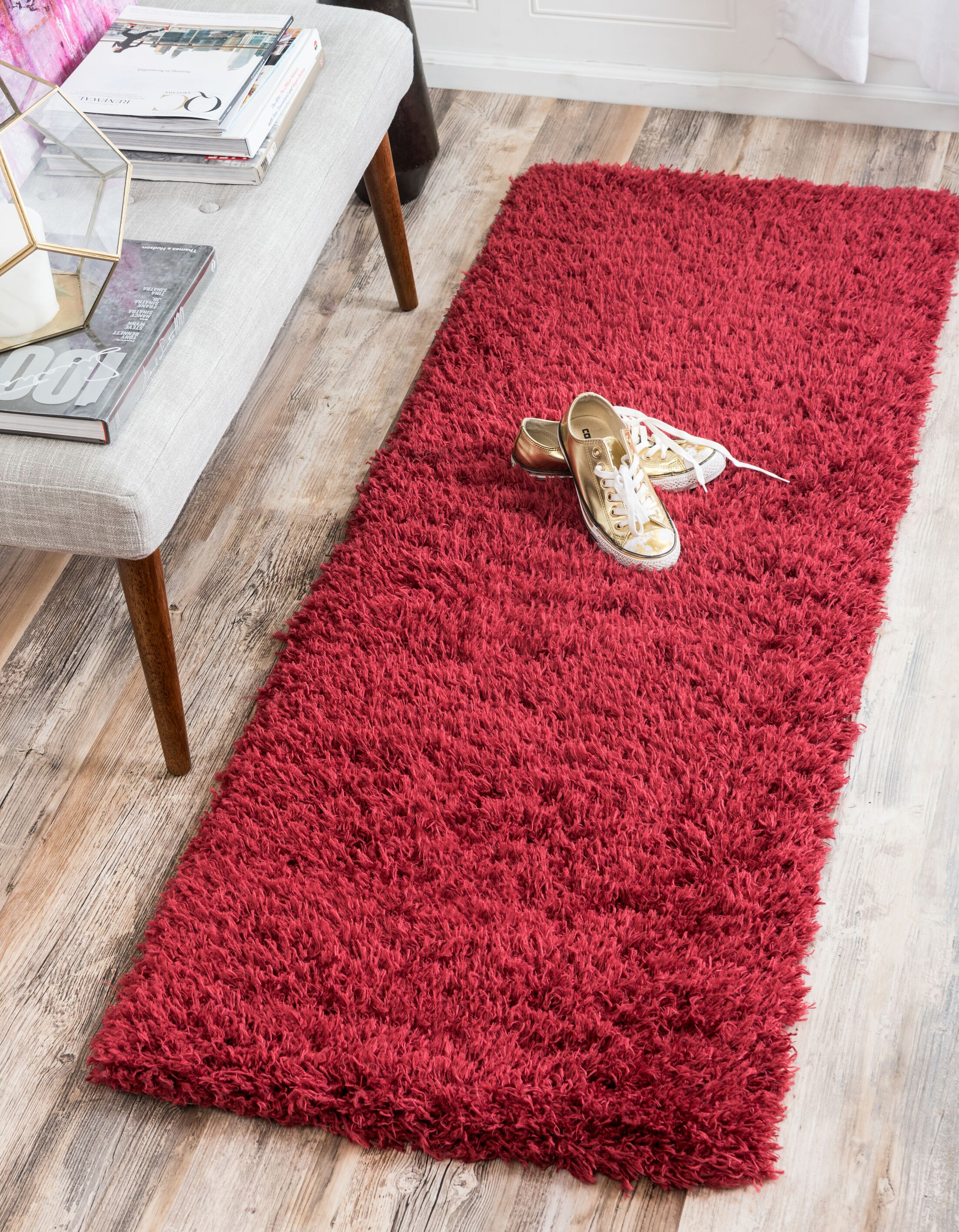 Red Area Rug Rug Size: Runner 2' x 6'