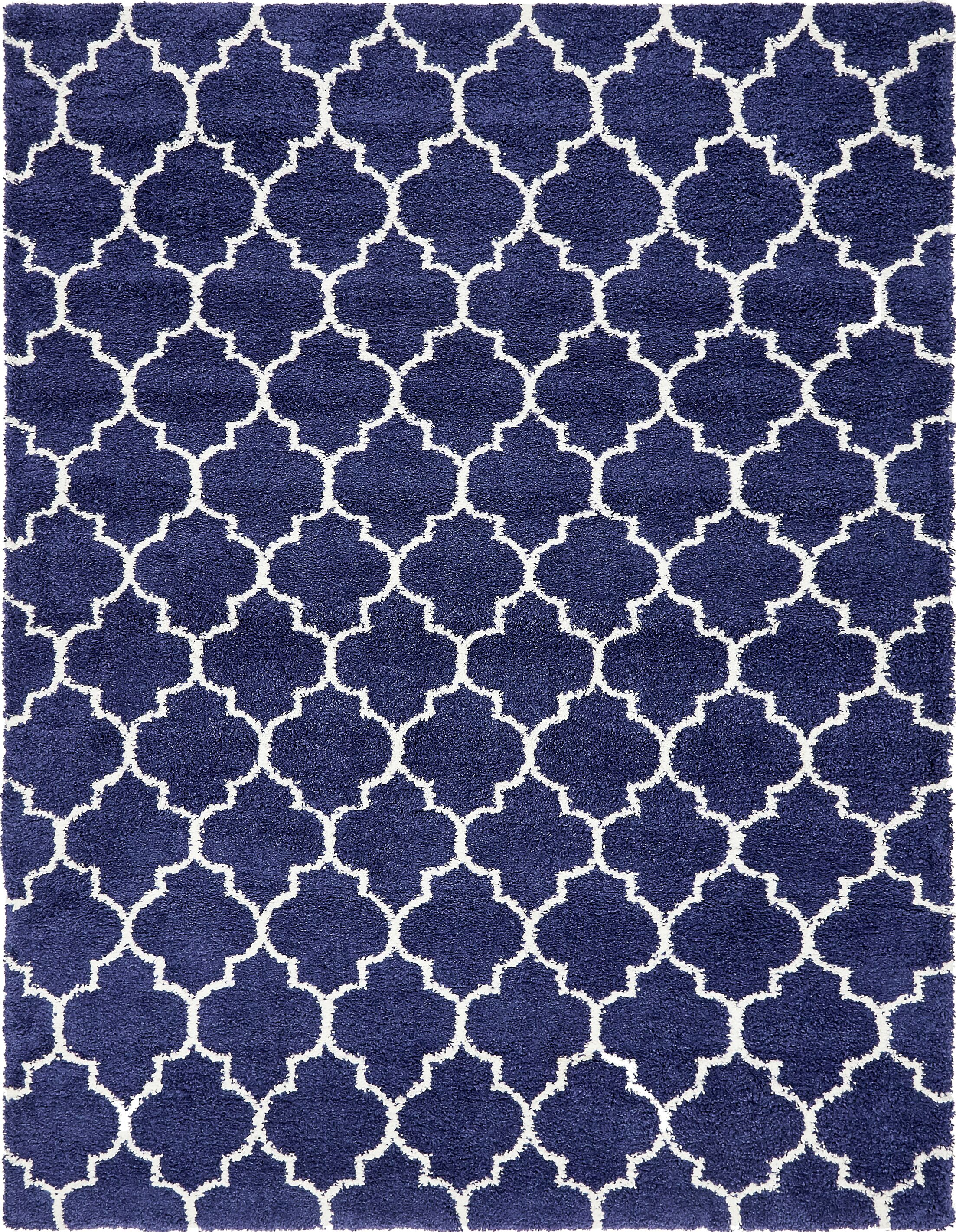 Cynthiana  Navy Blue Area Rug Rug Size: Rectangle 9' x 12'