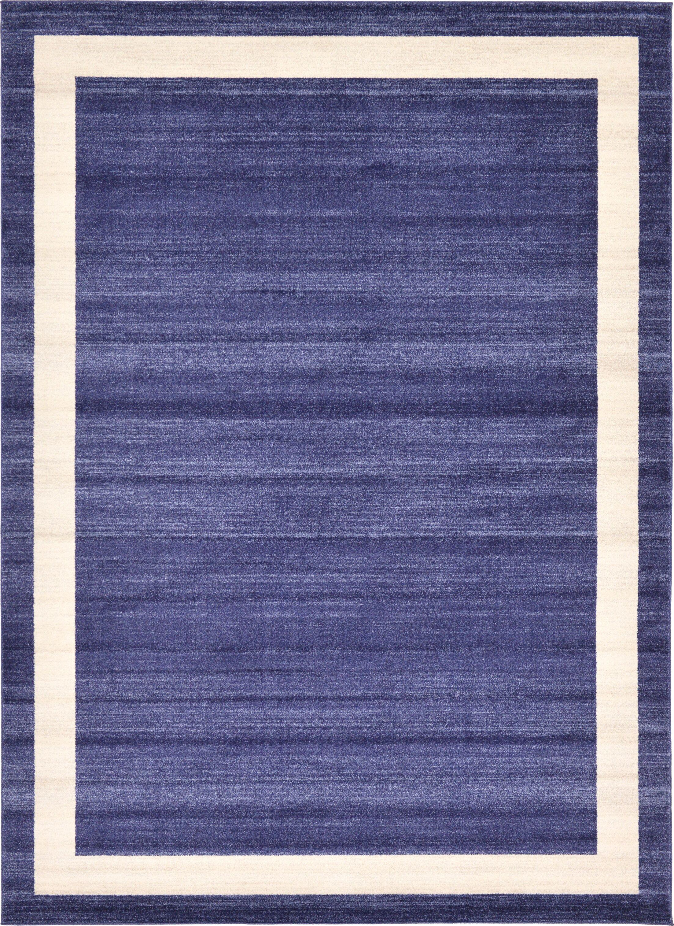 Christi Blue/Beige Area Rug Rug Size: Rectangle 8' x 11'