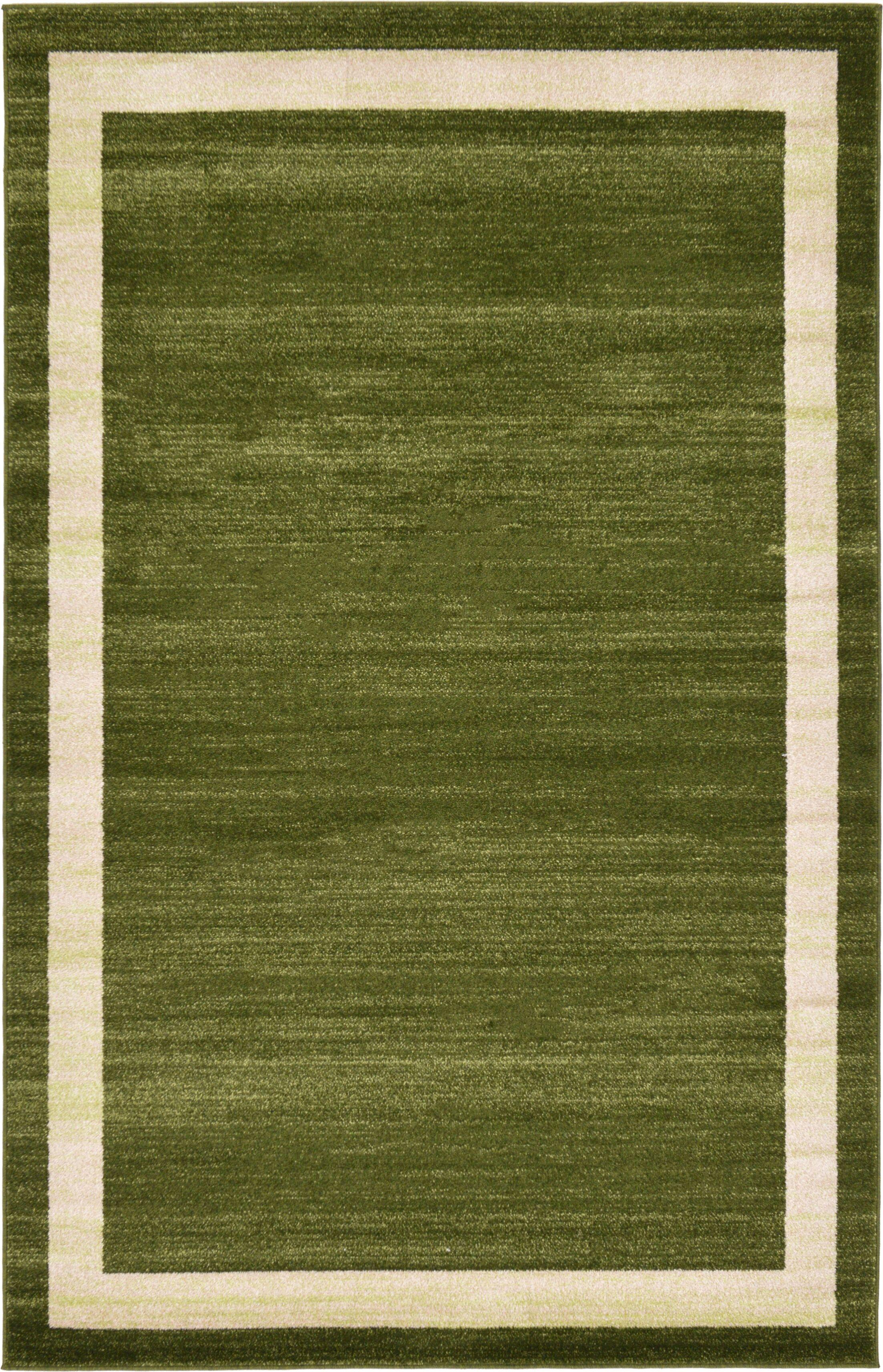 Christi Green/Beige Area Rug Rug Size: Rectangle 5' x 8'