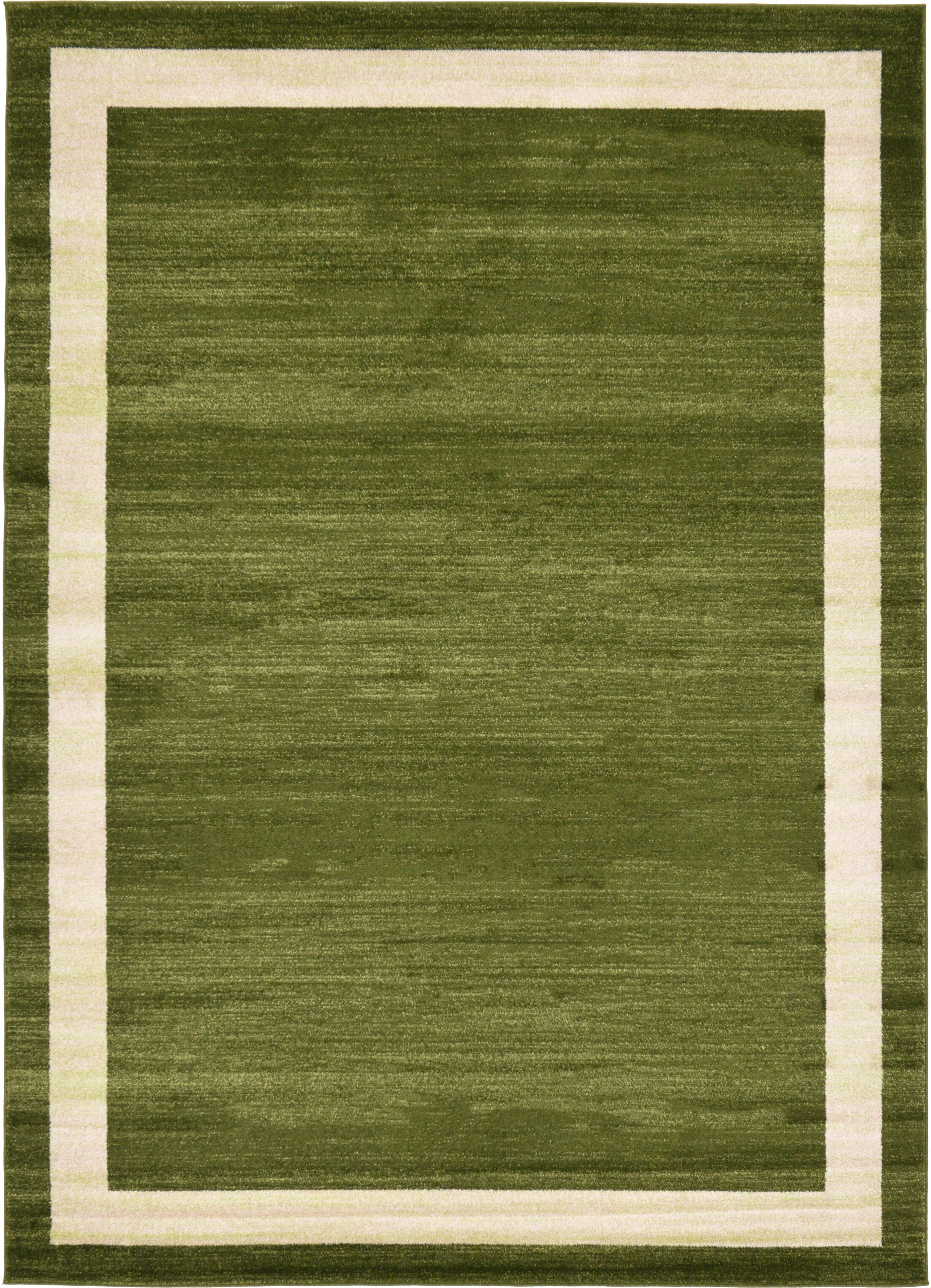 Christi Green/Beige Area Rug Rug Size: Rectangle 7' x 10'