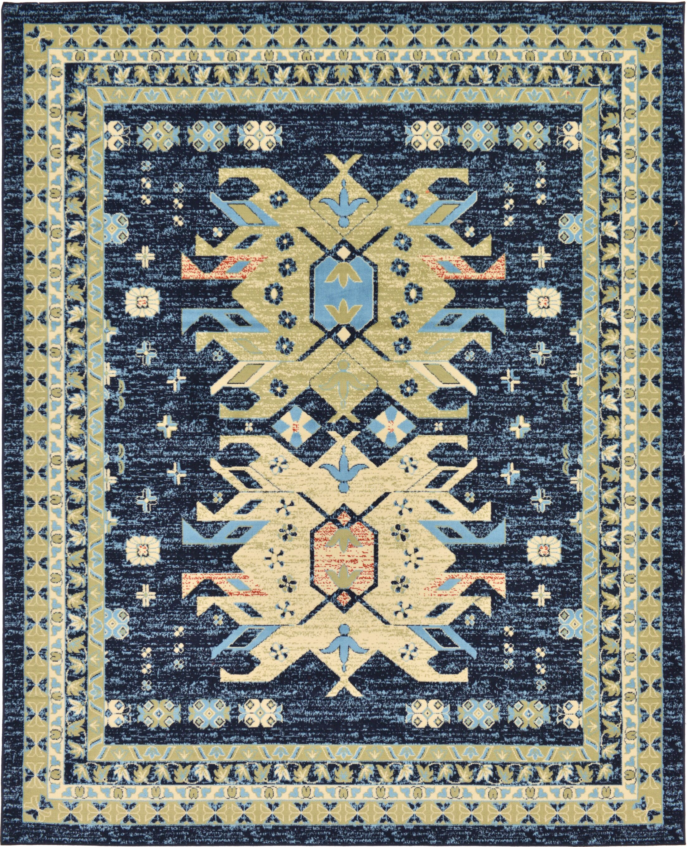 Valley Navy Blue Area Rug Rug Size: Rectangle 8' x 10'