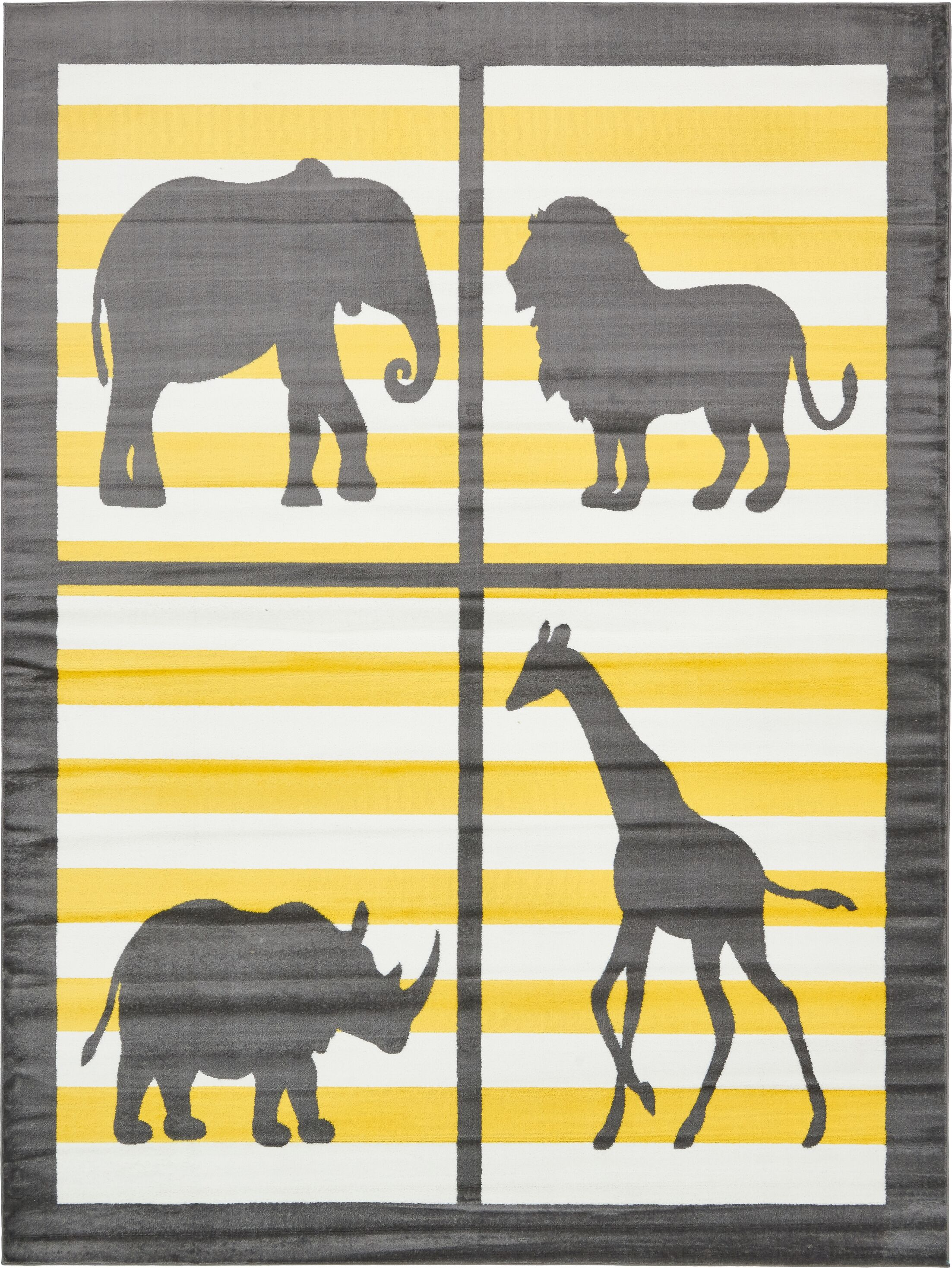 Nicholas Gray Area Rug Rug Size: Rectangle 9' x 12'