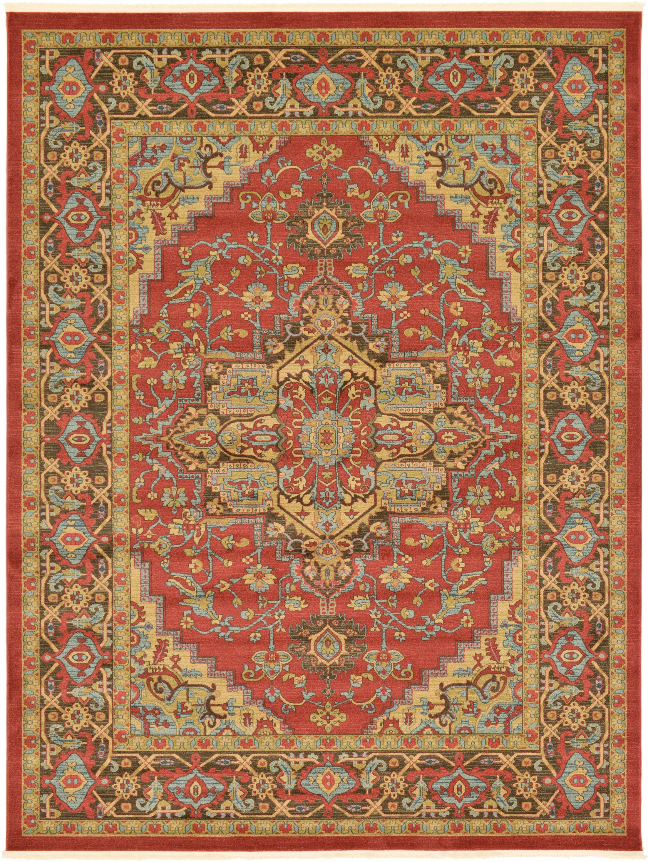 Zoey Red Area Rug Rug Size: Rectangle 9' x 12'