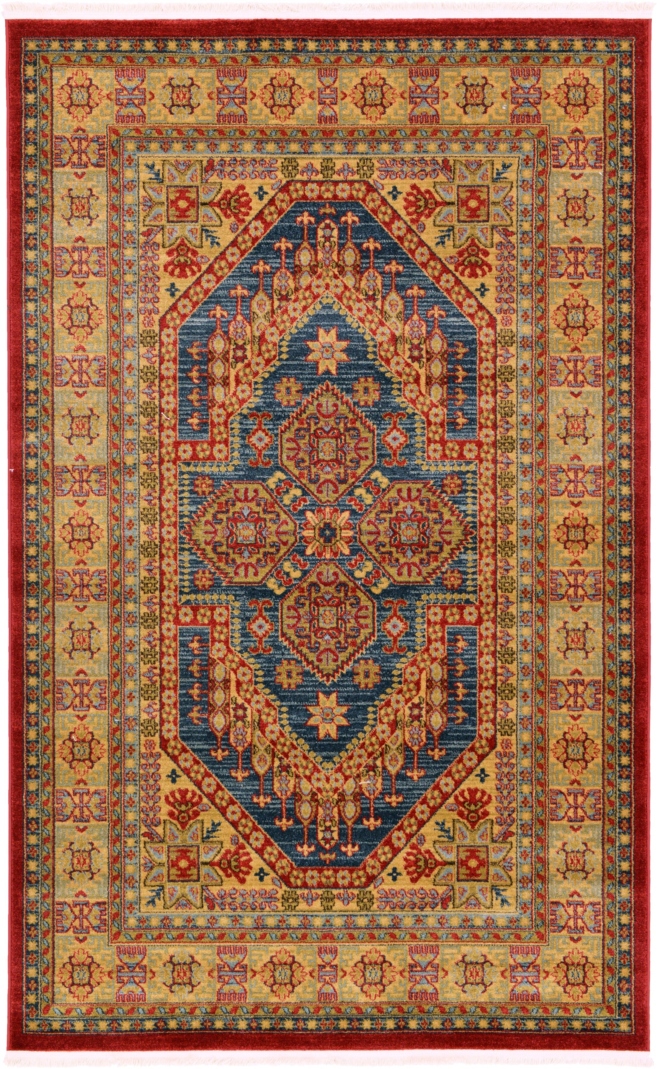 Zoey Red Area Rug Rug Size: Rectangle 5' x 8'