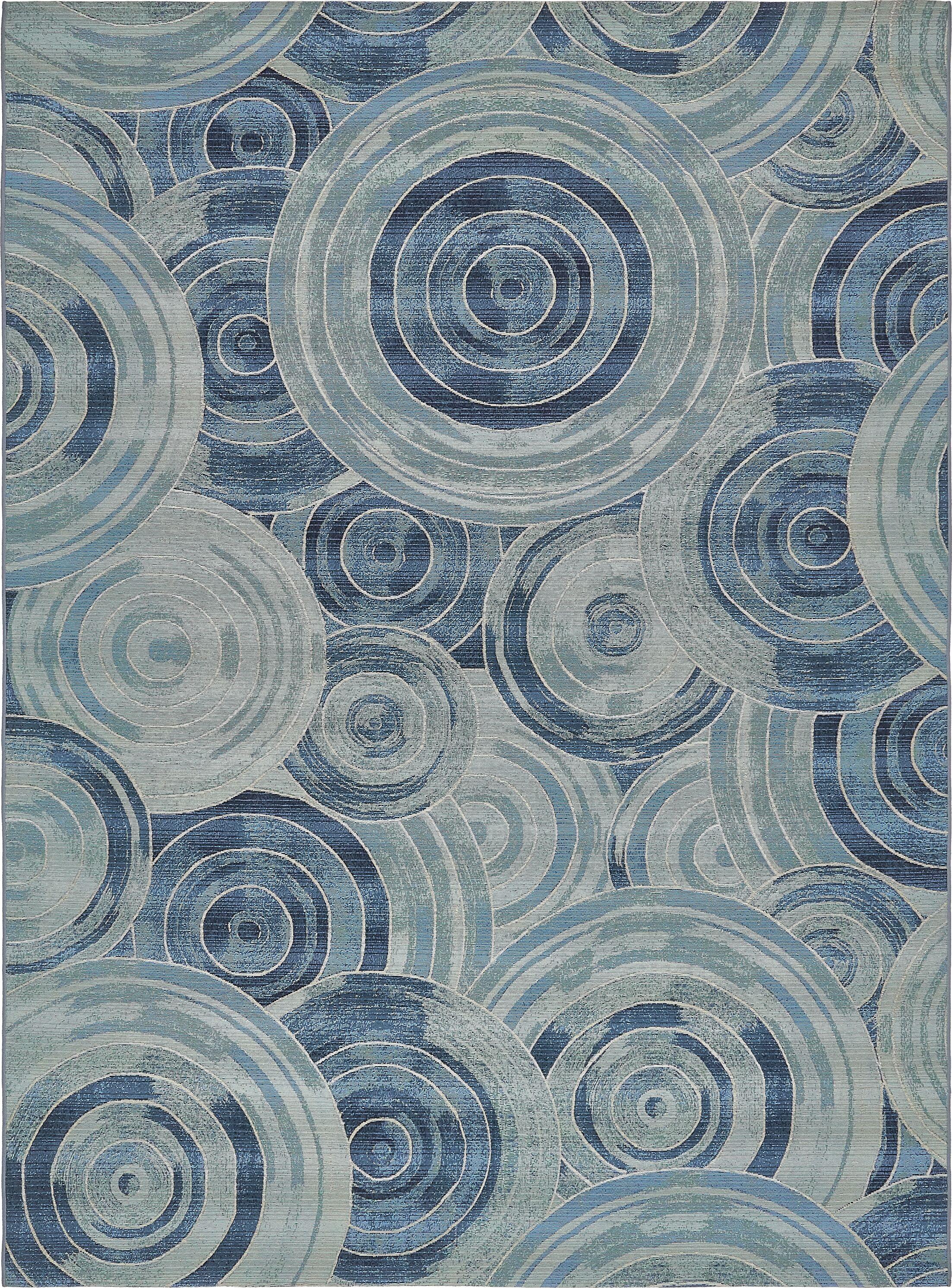 Ivy Light Blue Indoor/ Outdoor Area Rug Rug Size: Rectangle 8' x 11'
