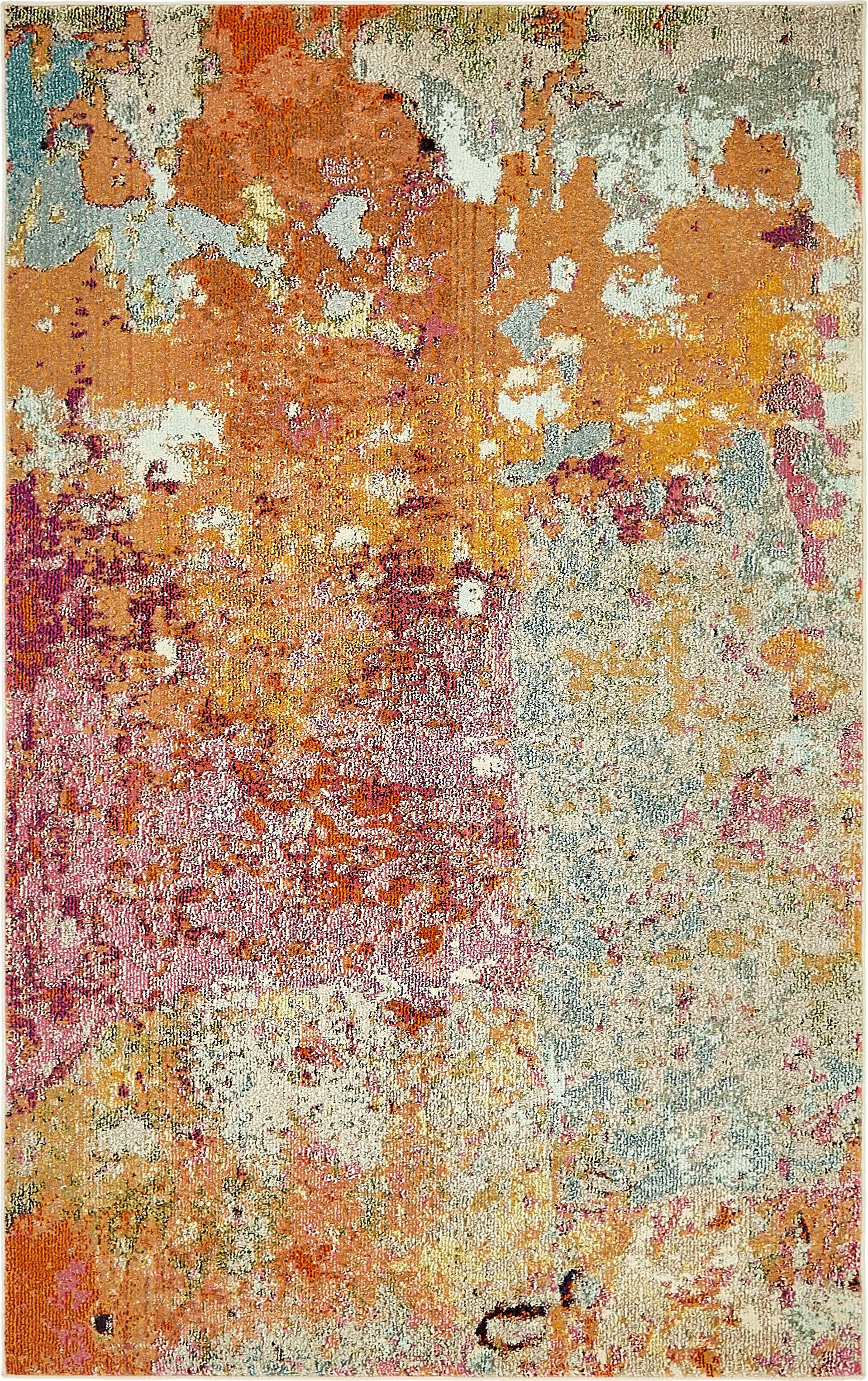 Chenango Rectangle Orange/Pink Area Rug Rug Size: Rectangle 5' x 8'