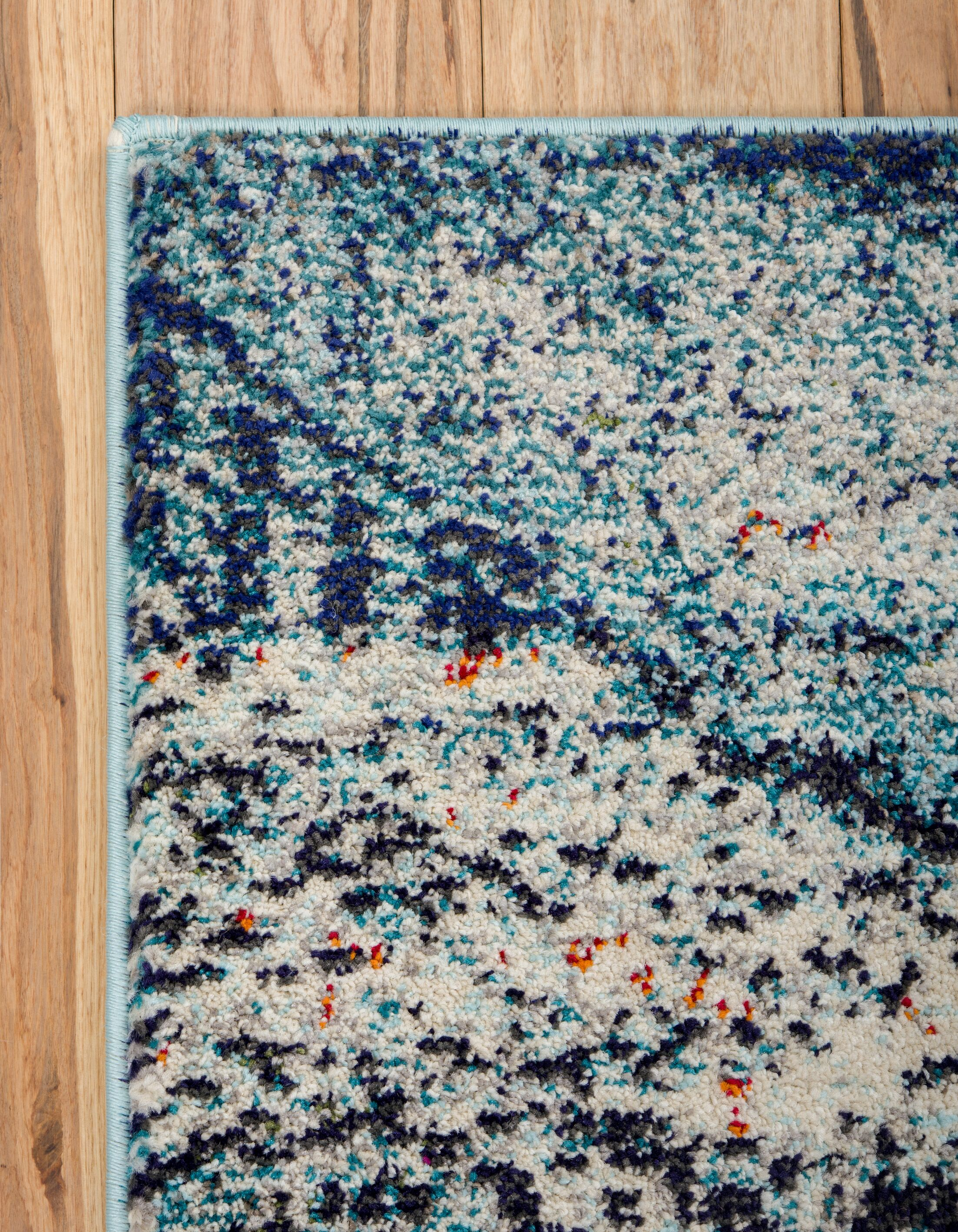 Newton Stain Resistant Blue Area Rug Rug Size: Rectangle 5' x 8'