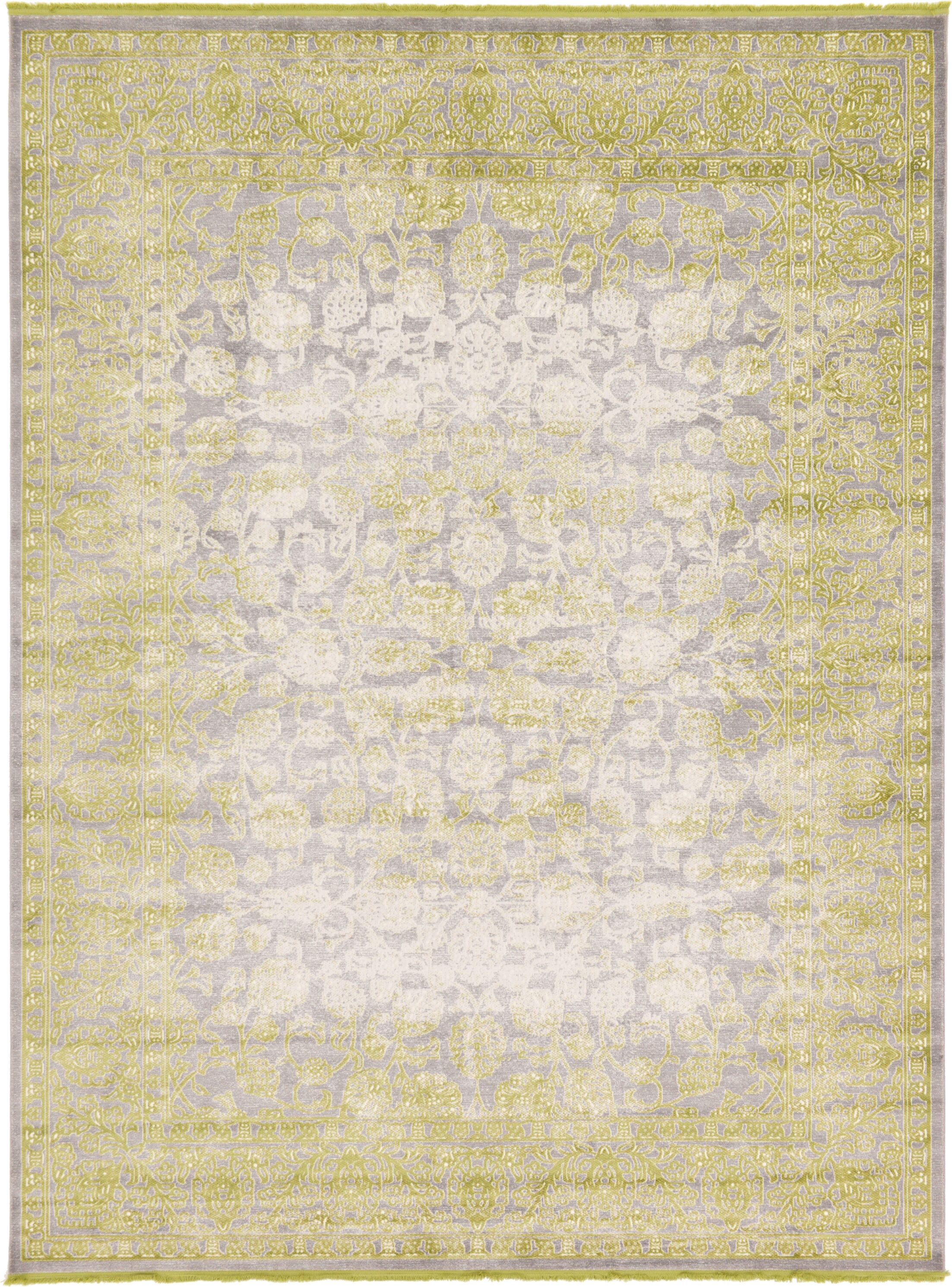 Bryant Oriental Light Green Area Rug Rug Size: Rectangle 10' x 13'