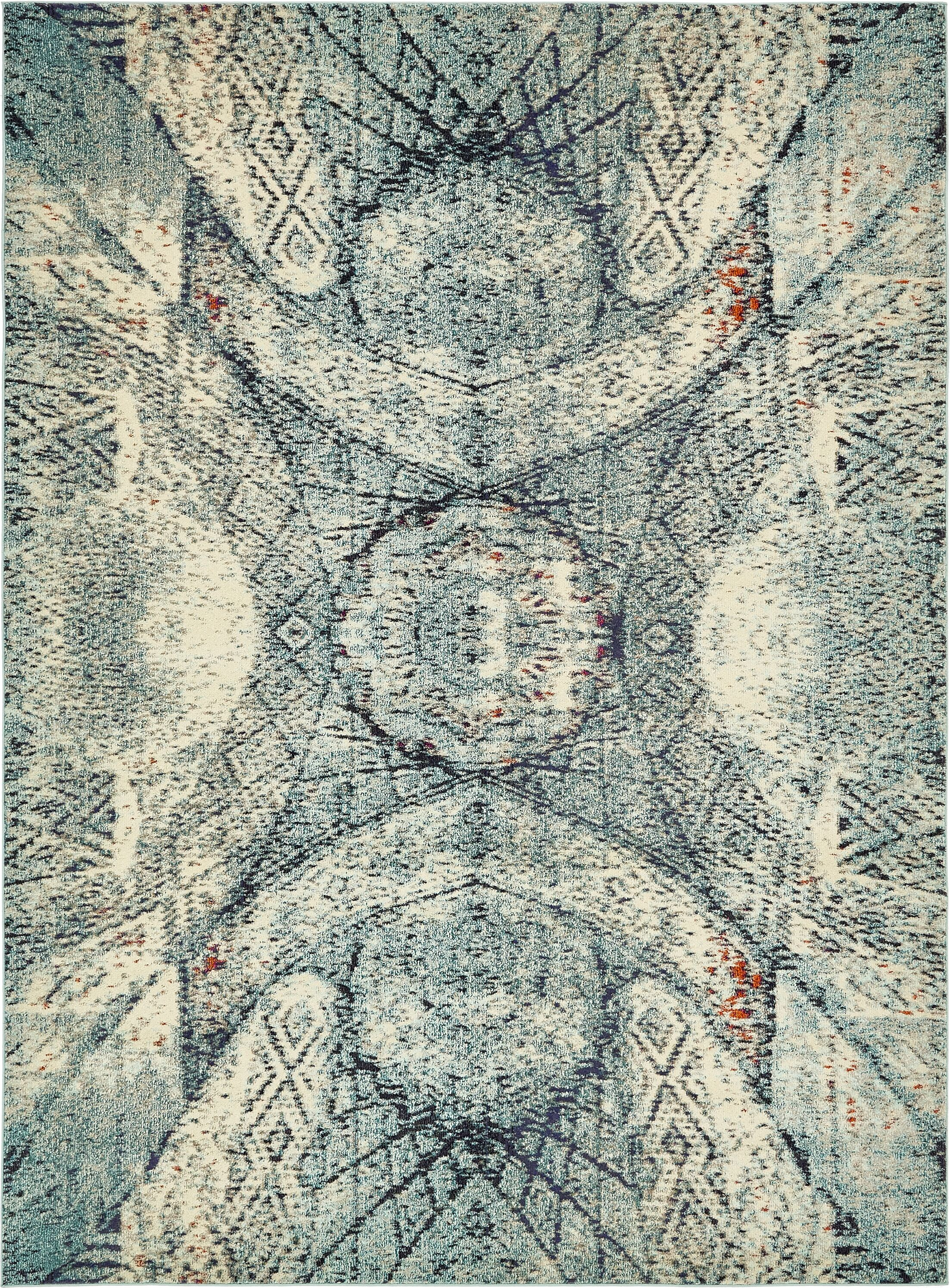 Newton Stain Resistant Blue Area Rug Rug Size: Rectangle 9' x 12'