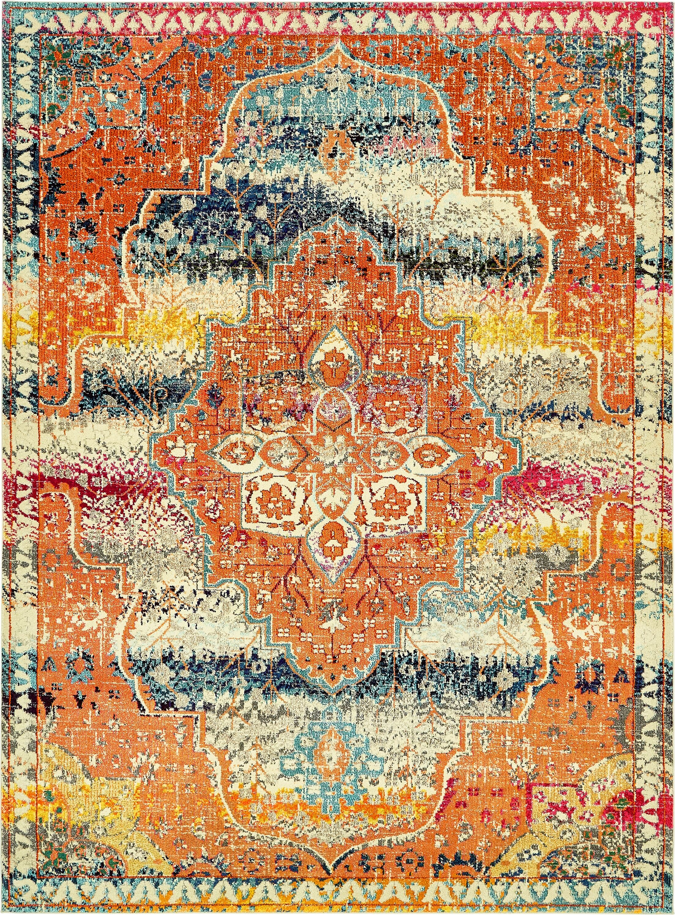 Newton Orange Area Rug Rug Size: Rectangle 9' x 12'