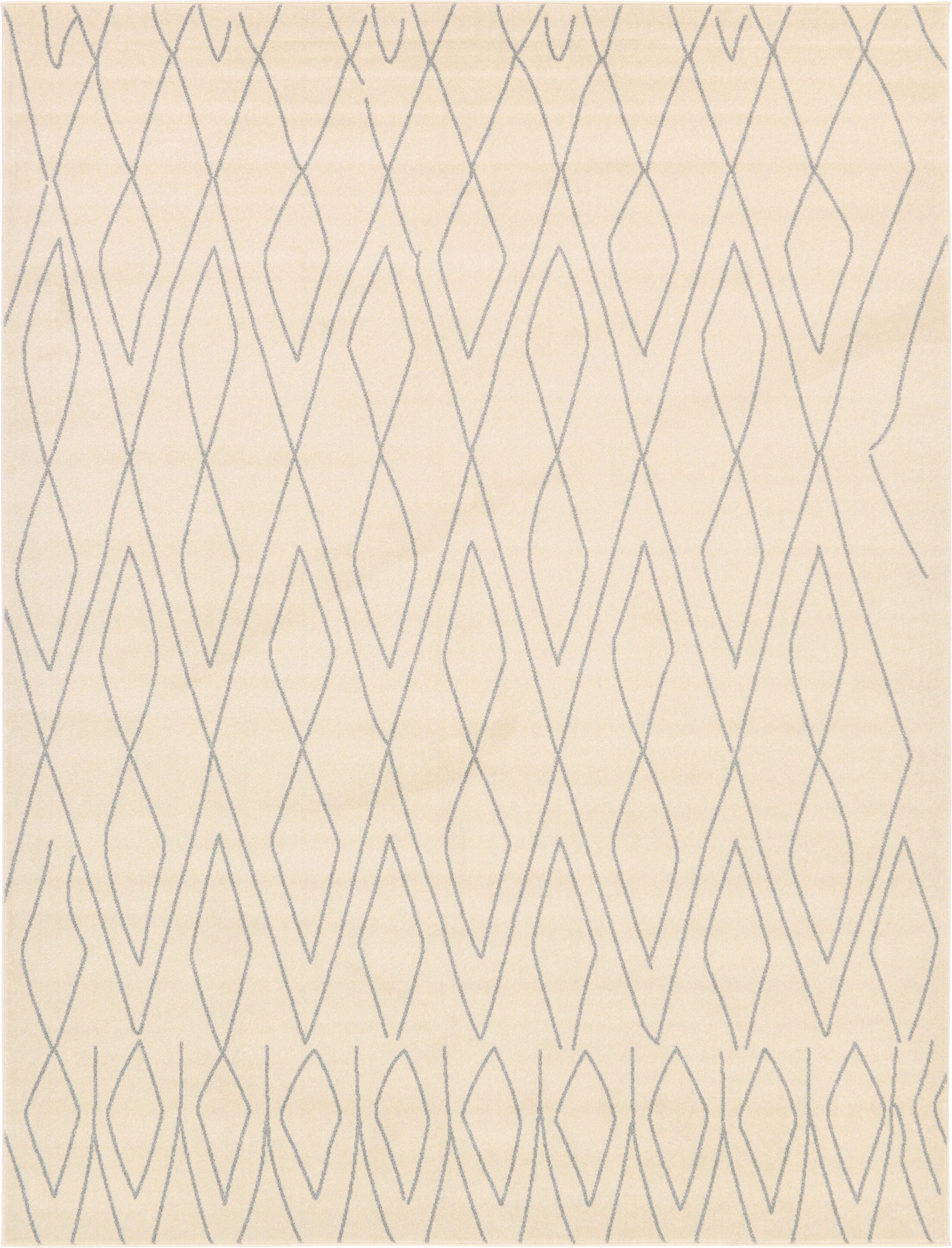 Doretha Ivory Area Rug Rug Size: Rectangle 9' x 12'