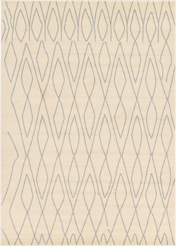 Doretha Ivory Area Rug Rug Size: Rectangle 7' x 10'