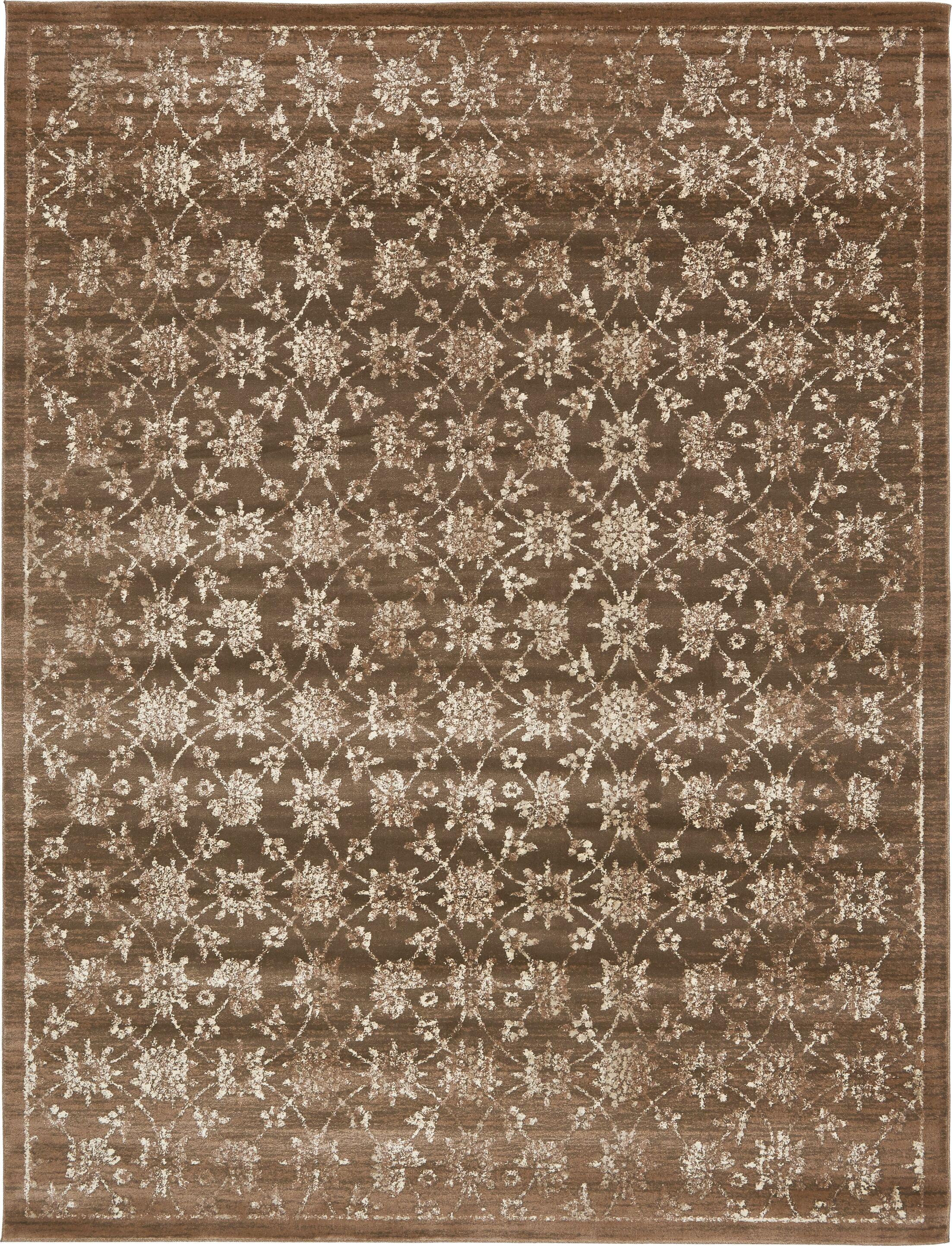 Geleen Brown Area Rug Rug Size: Rectangle 10' x 13'