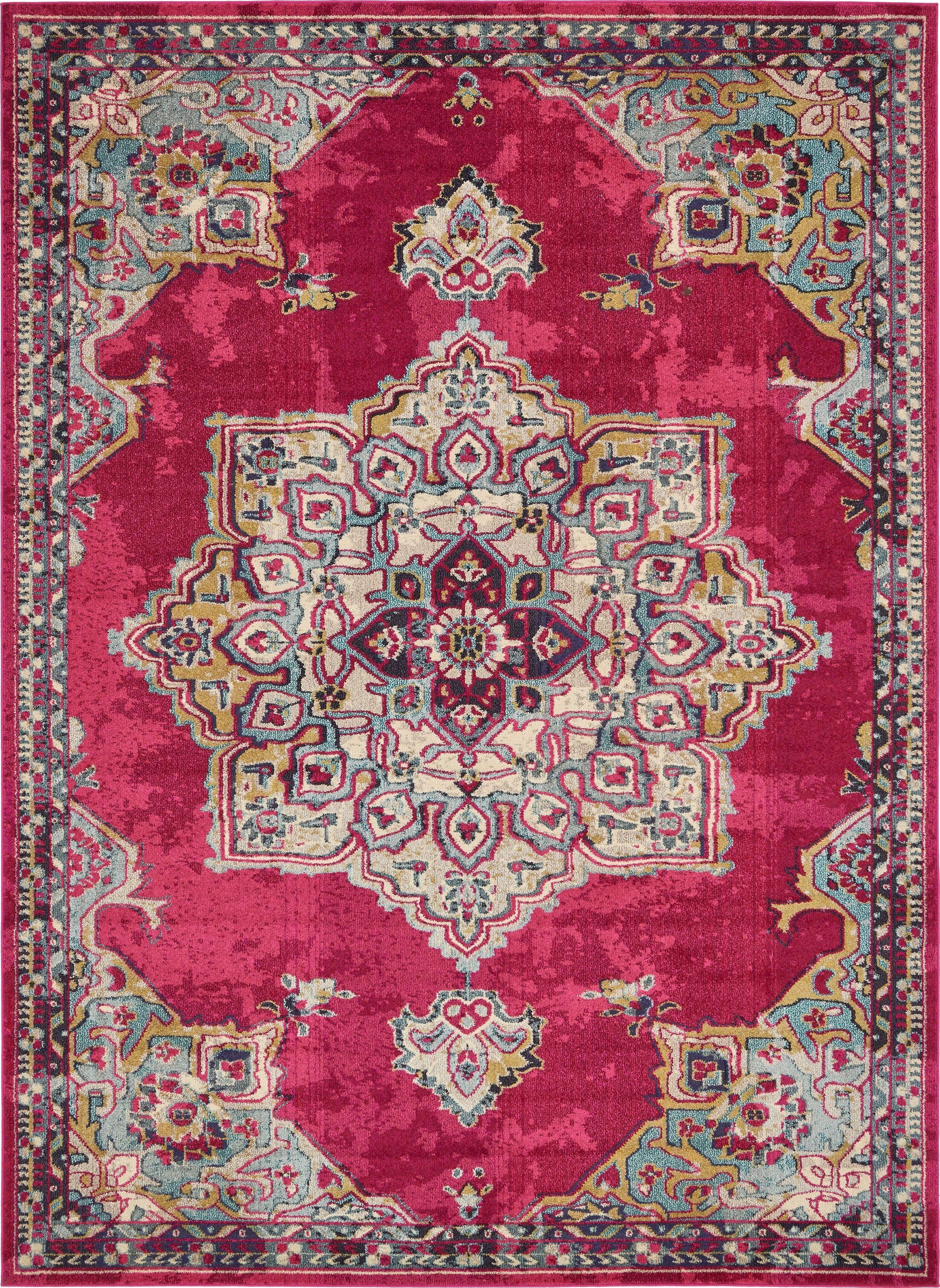 Charleena Pink Area Rug Rug Size: Rectangle 9' x 12'