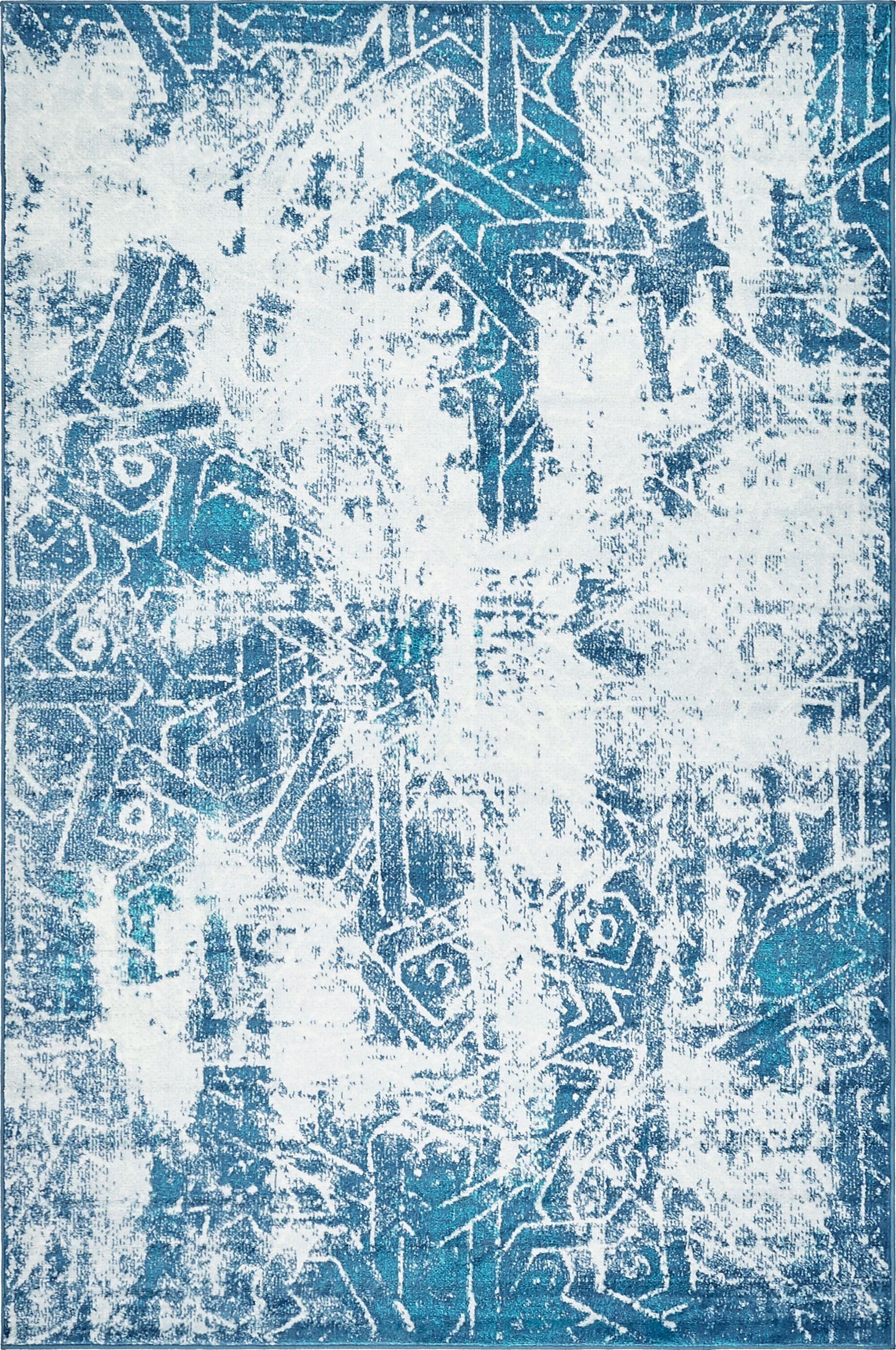 Brandt Blue Area Rug Rug Size: Rectangle 5' x 8'