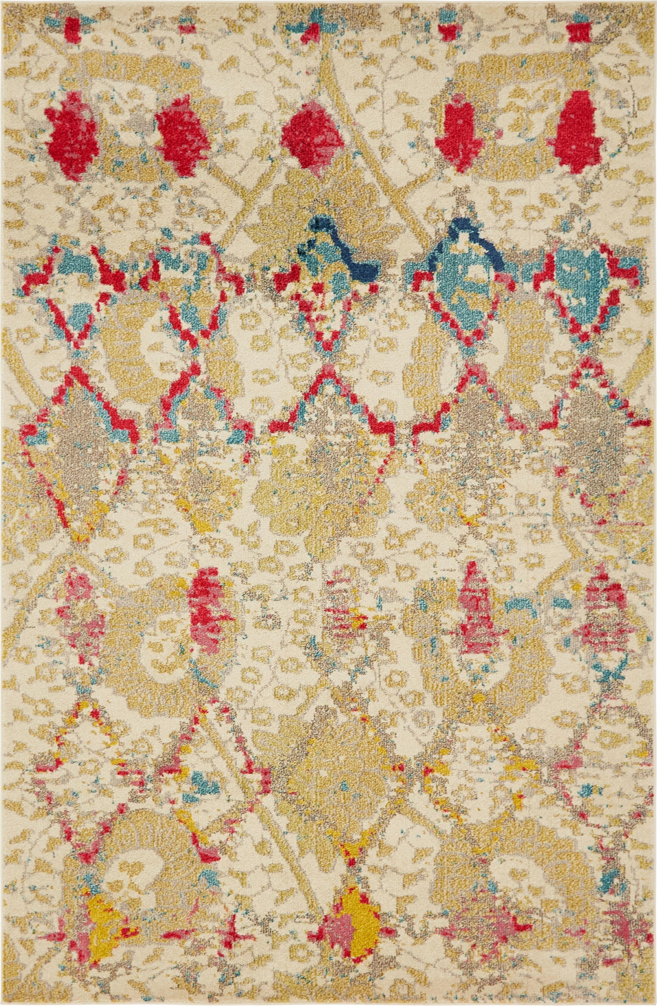 Charleena Beige Area Rug Rug Size: Rectangle 6' x 9'