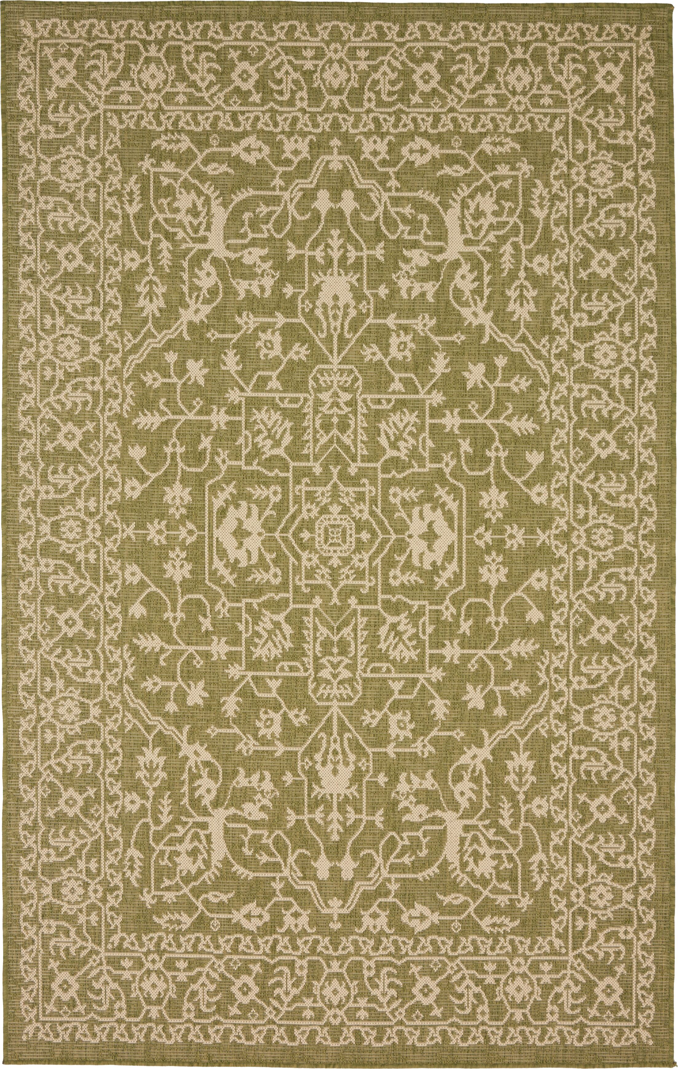 Applecrest Green Outdoor Area Rug Rug Size: Rectangle 5' x 8'