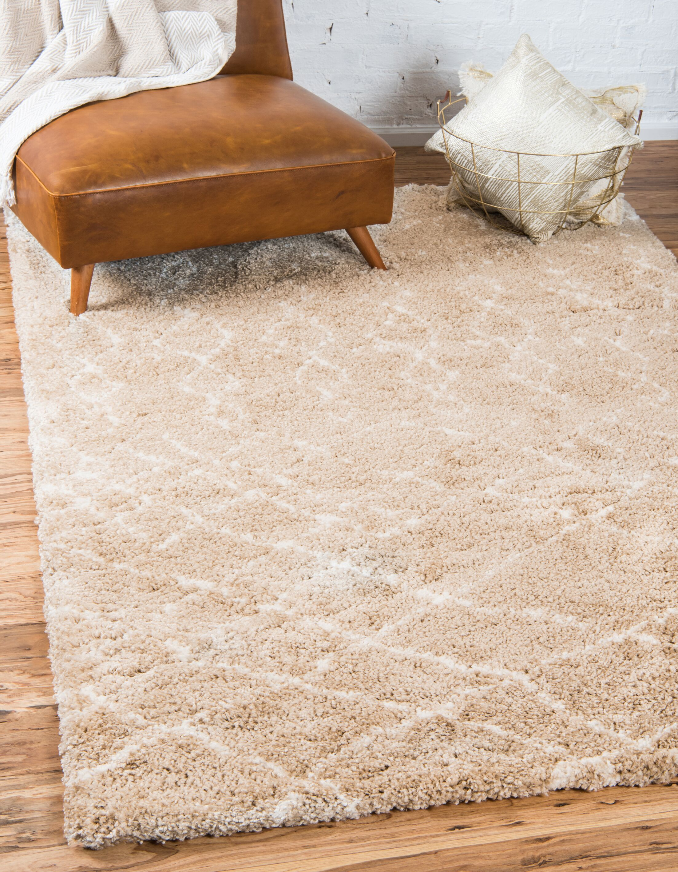 Bourne Machine woven Taupe Area Rug Rug Size: Rectangle 8' x 10'