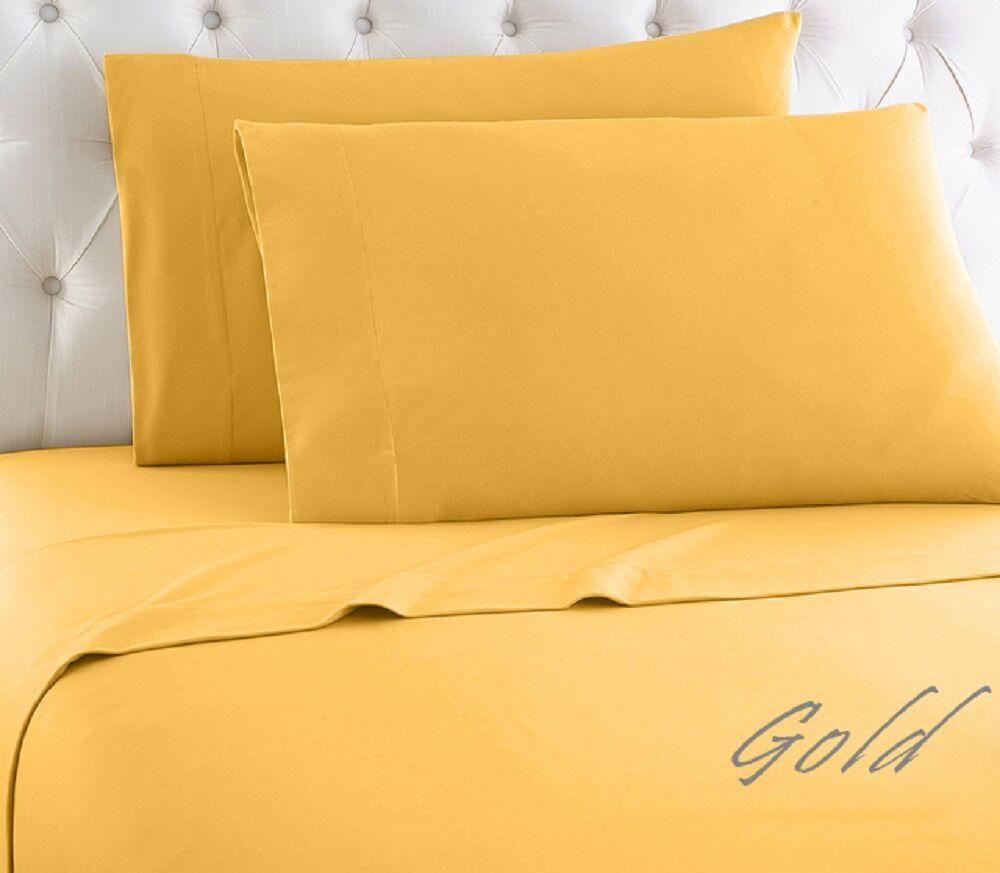 Crosland 1000 Thread Count 100% Cotton Sheet Set Color: Gold, Size: King