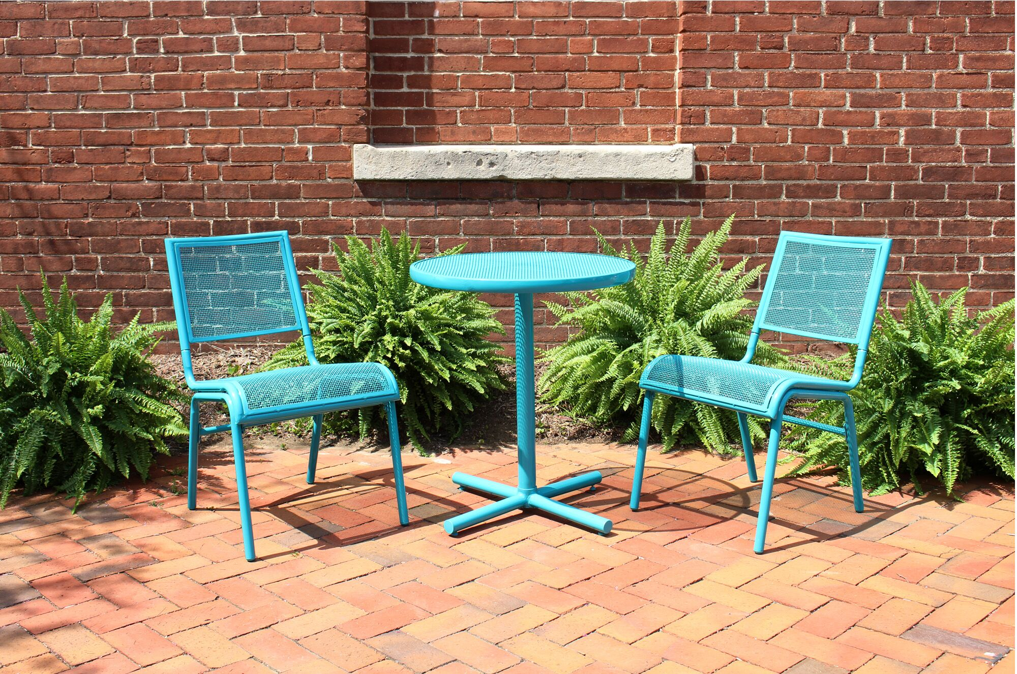 Concannon 3 Piece Bistro Set Finish: Turquoise