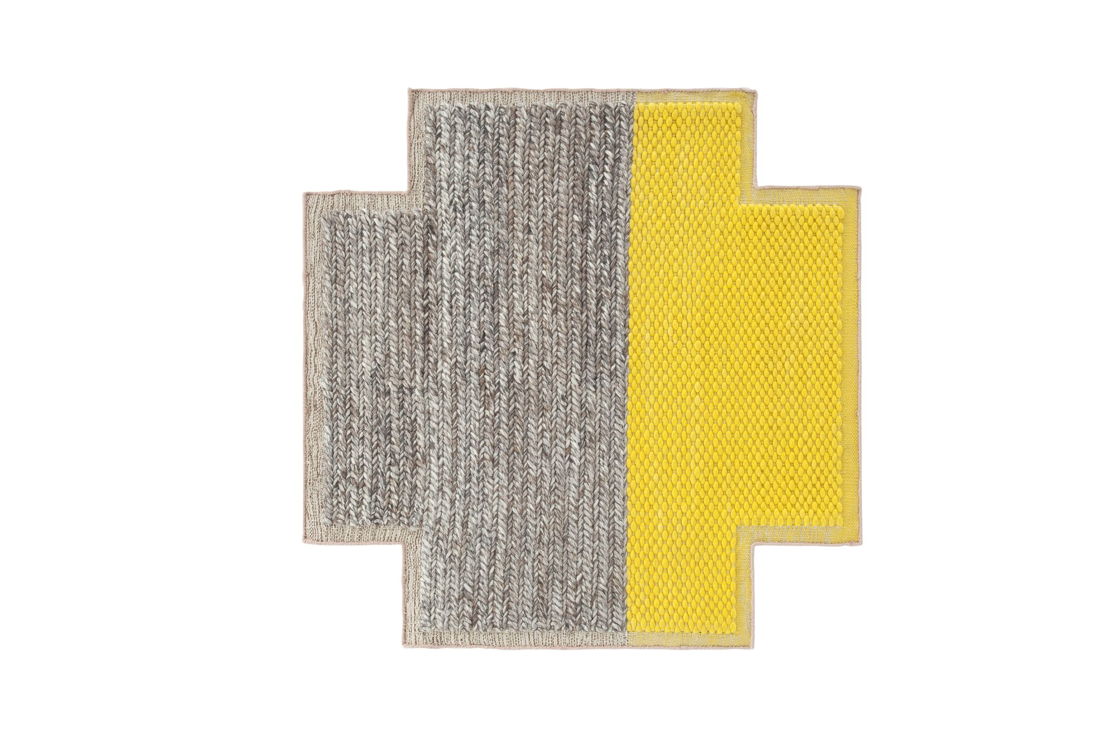 Mangas Space Plait Yellow Area Rug Rug Size: Square 8'6