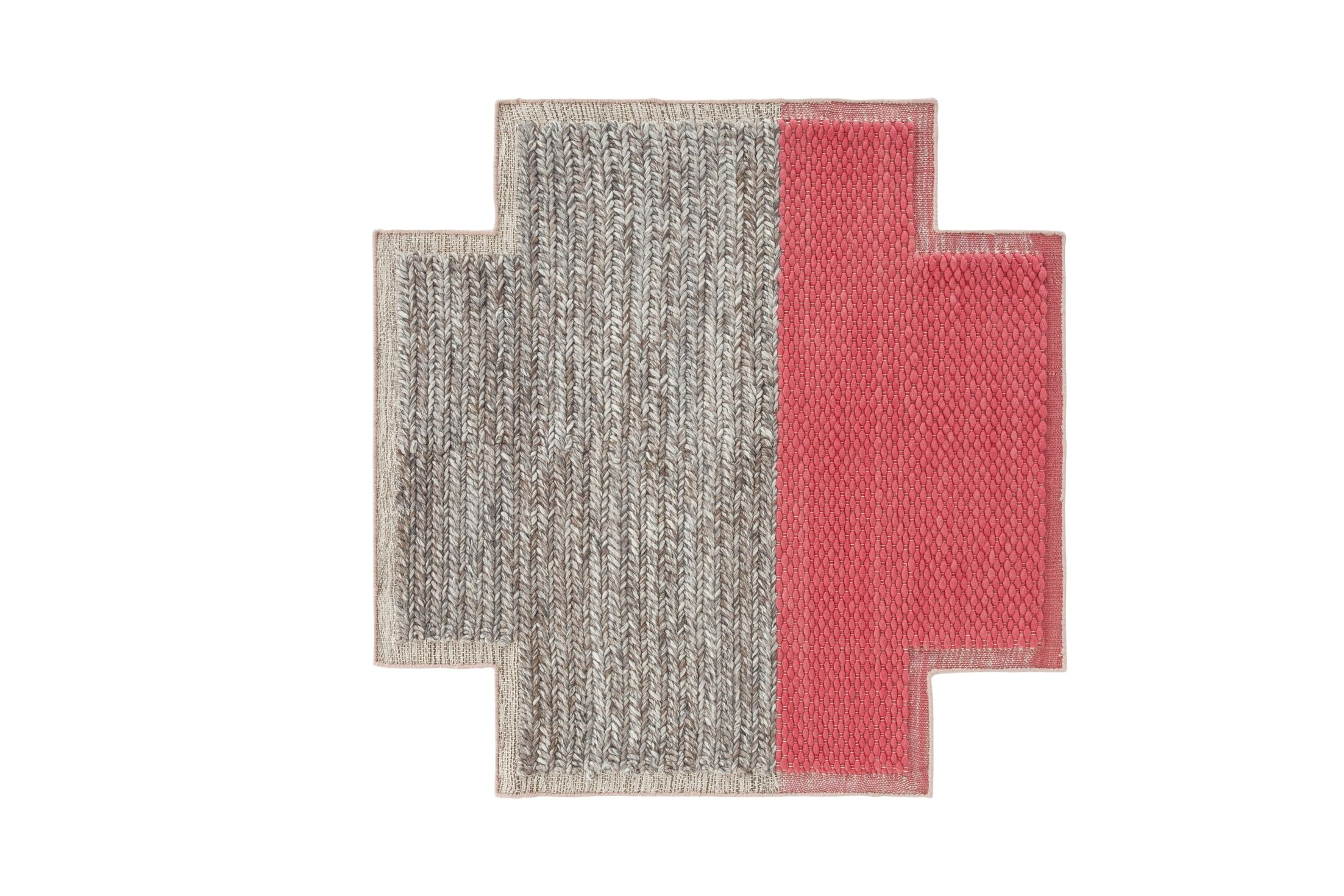 Mangas Space Plait Coral Area Rug Rug Size: Square 5'3