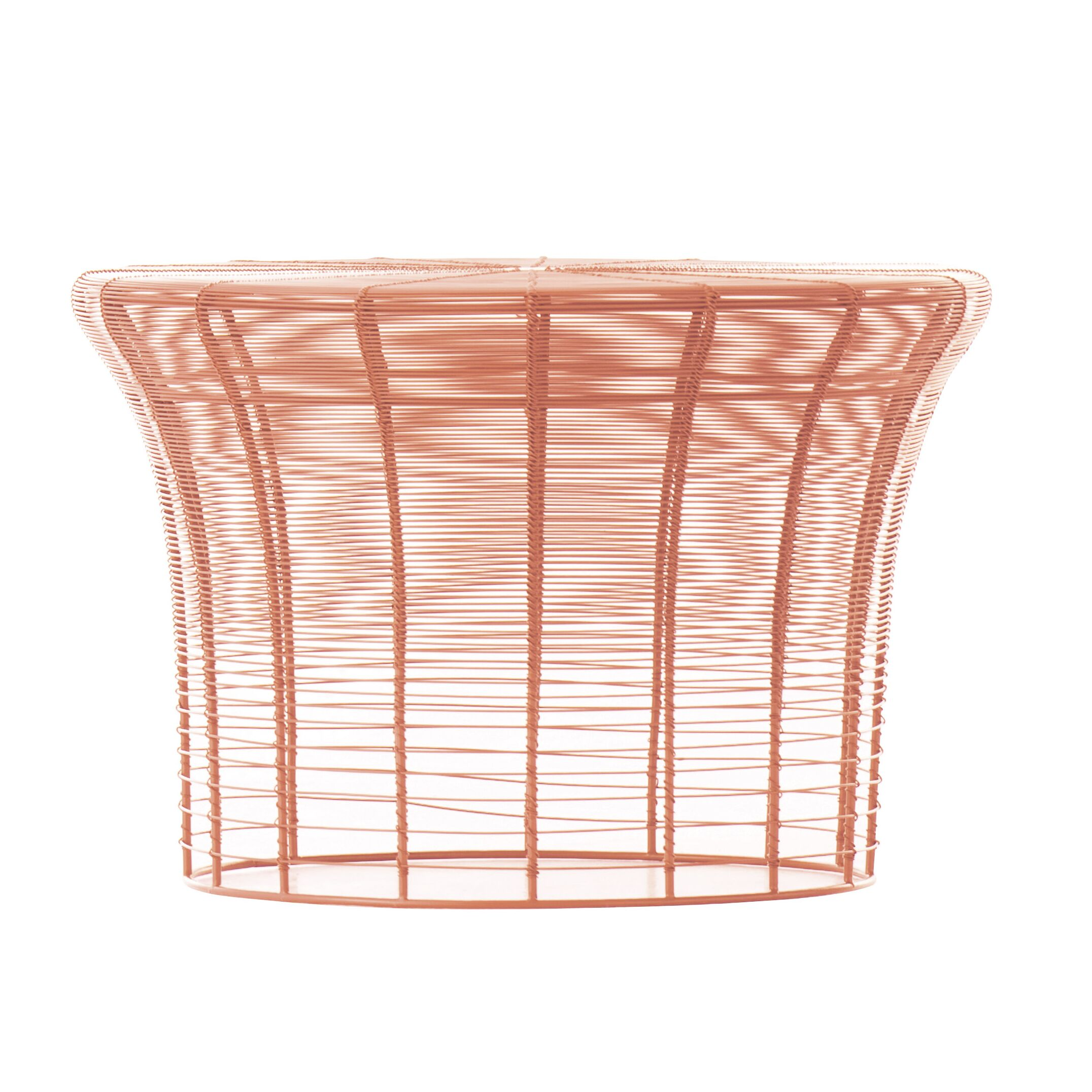 Aram High Table Color: Coral