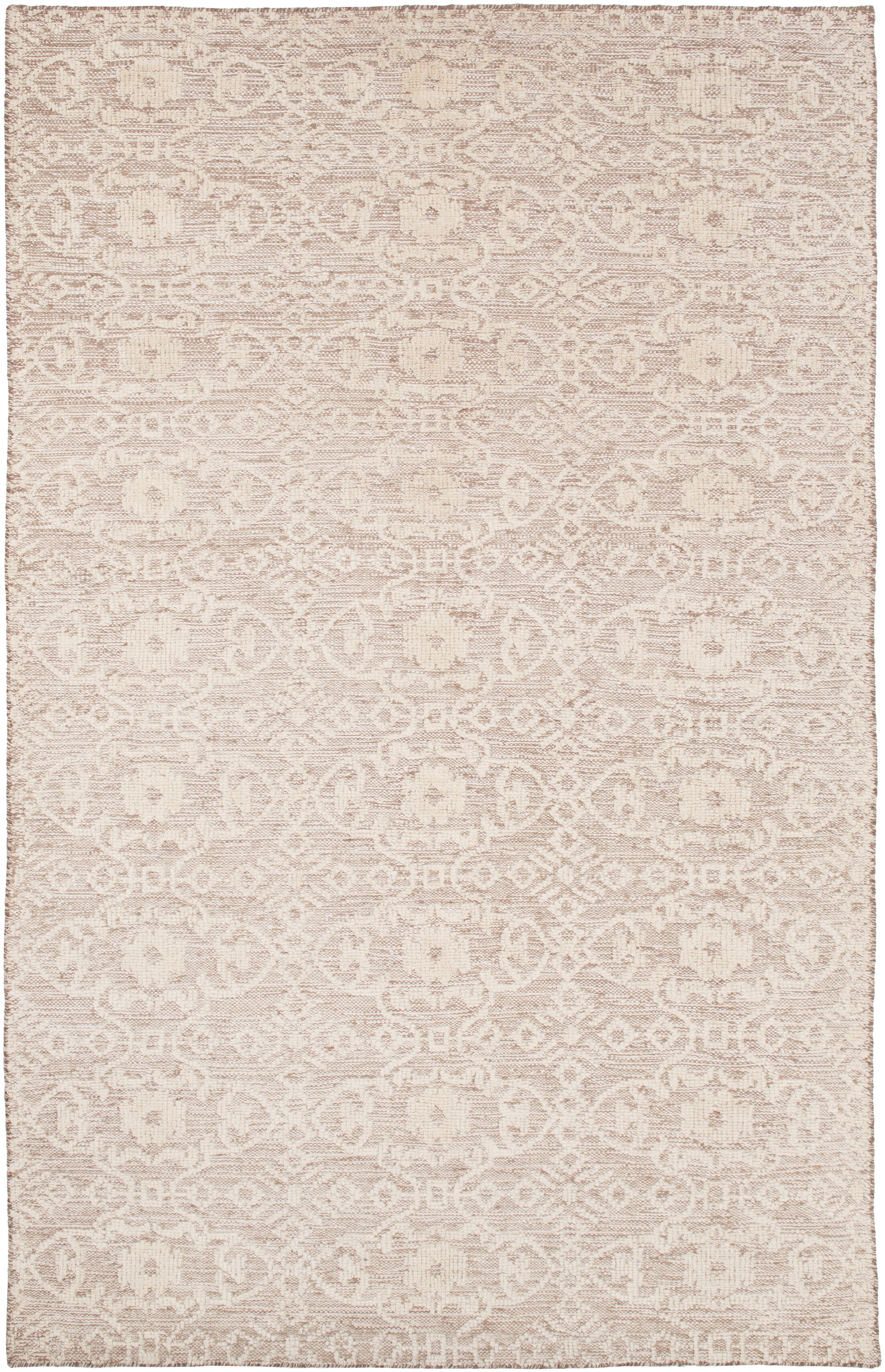 Lejeune Hand Knotted Beige Area Rug Rug Size: Rectangle 9' x 13'