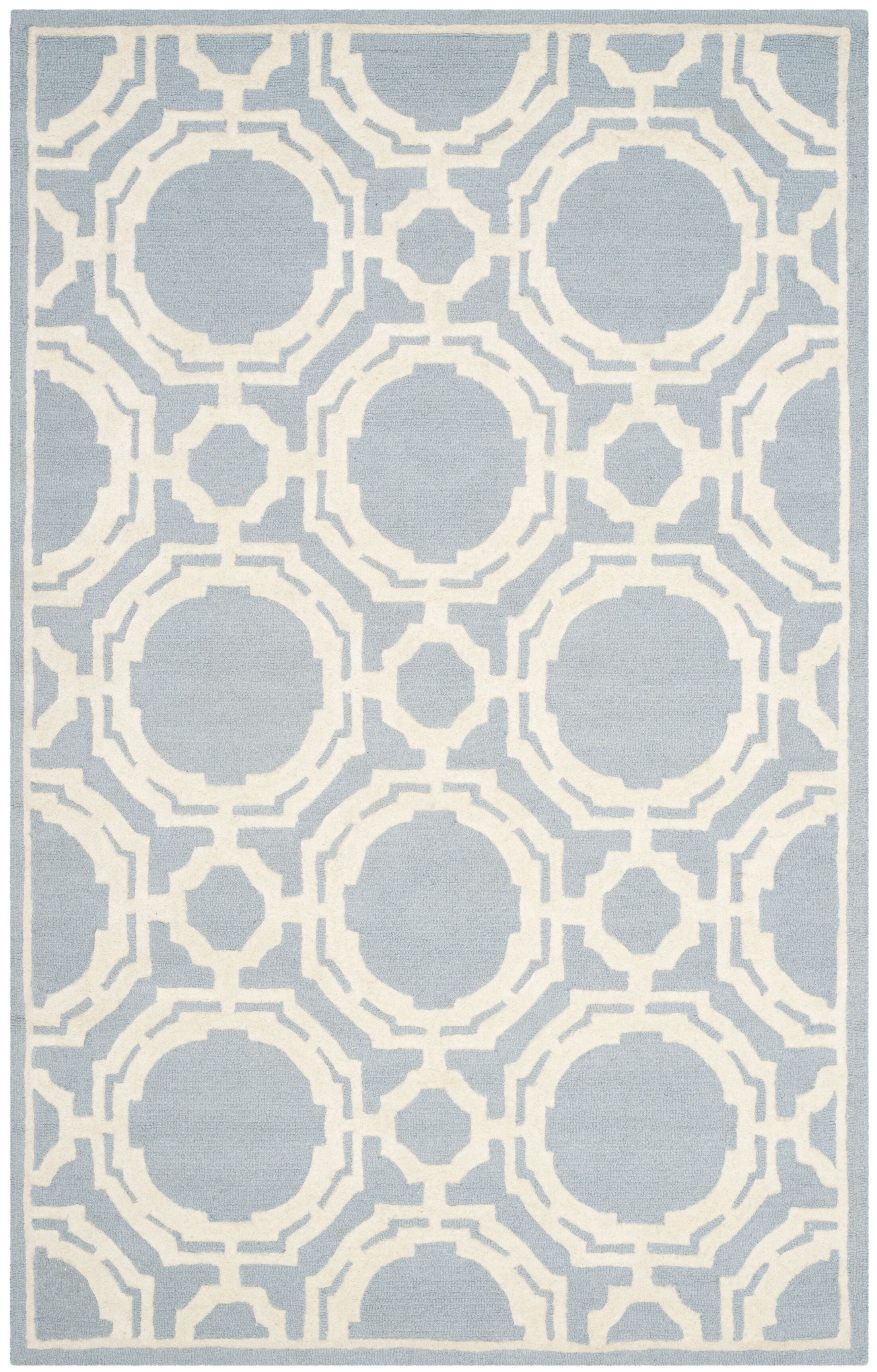 Blakemore Hand-Tufted Blue/Ivory Area Rug Rug Size: Rectangle 5' x 8'