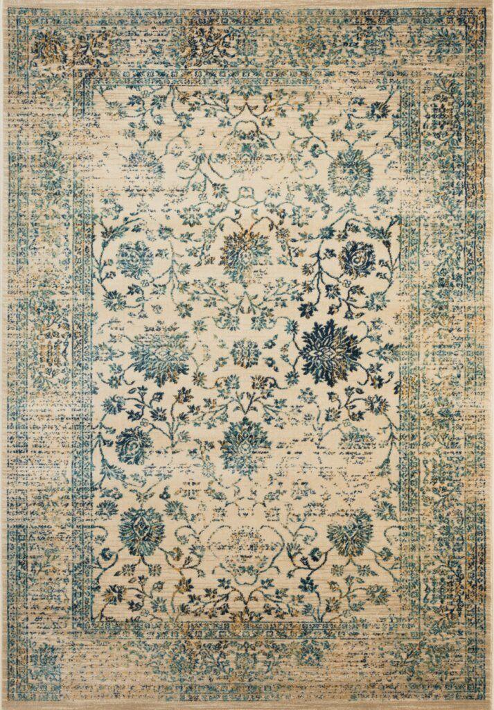 Montelimar Beige/Turquoise Area Rug Rug Size: Rectangle 6' X 9'